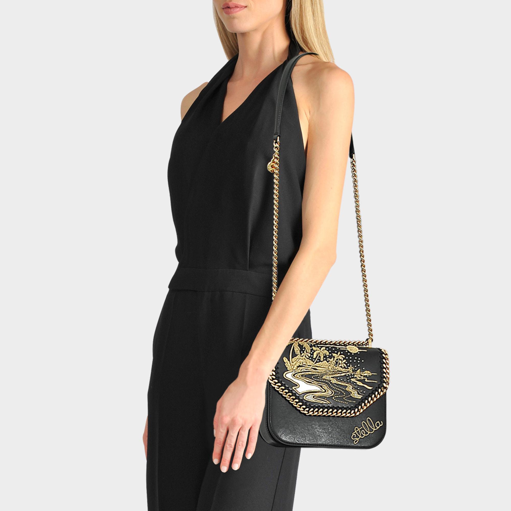 6eb4fa9ec524 Lyst - Stella McCartney Hawaiian Embroidery Falabella Box Shoulder ...