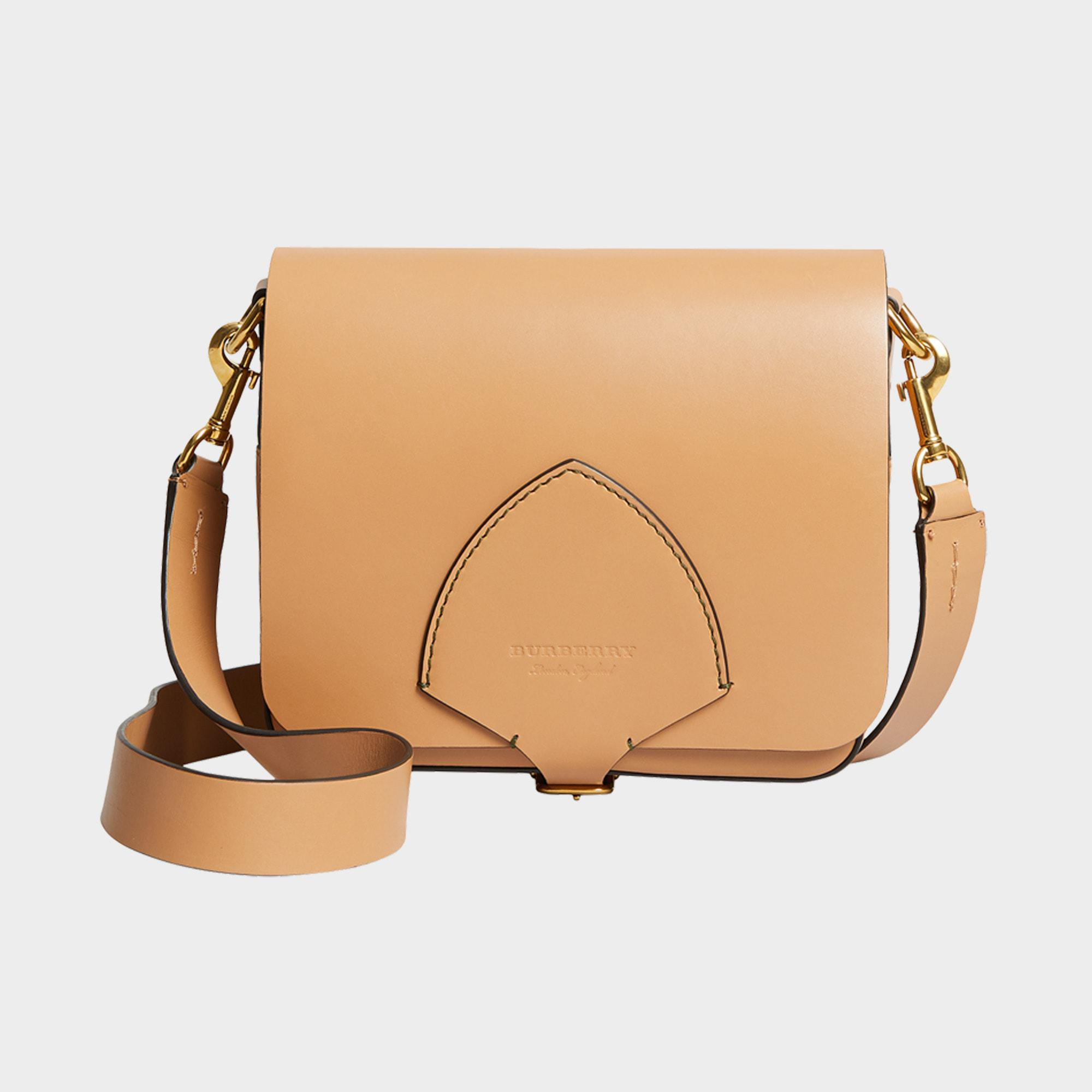 7c76ccfaa29a Lyst - Burberry The Square Satchel Bag In Camel Supple Leather