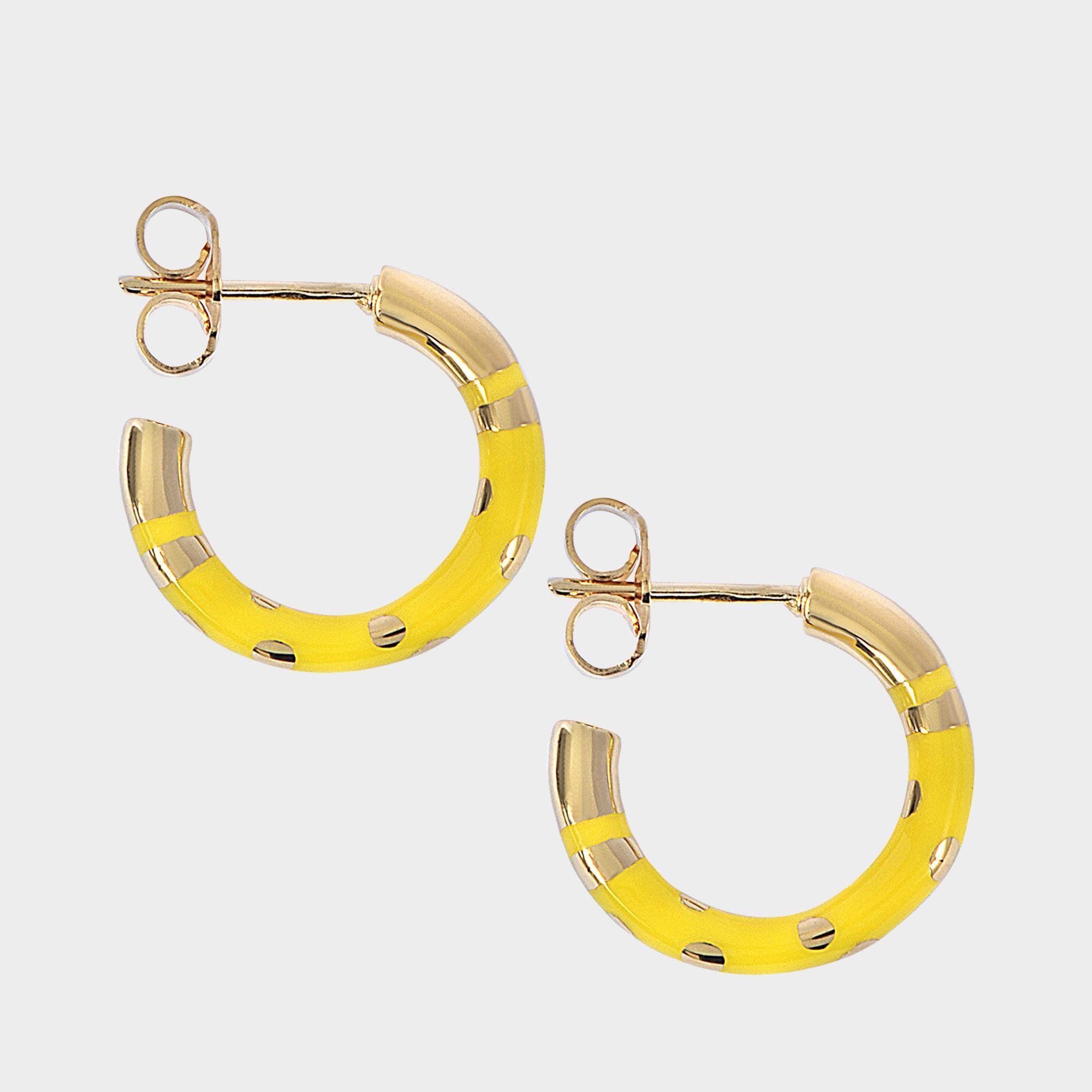 Aurélie Bidermann Positano mini hoop earrings YKRTfXvN
