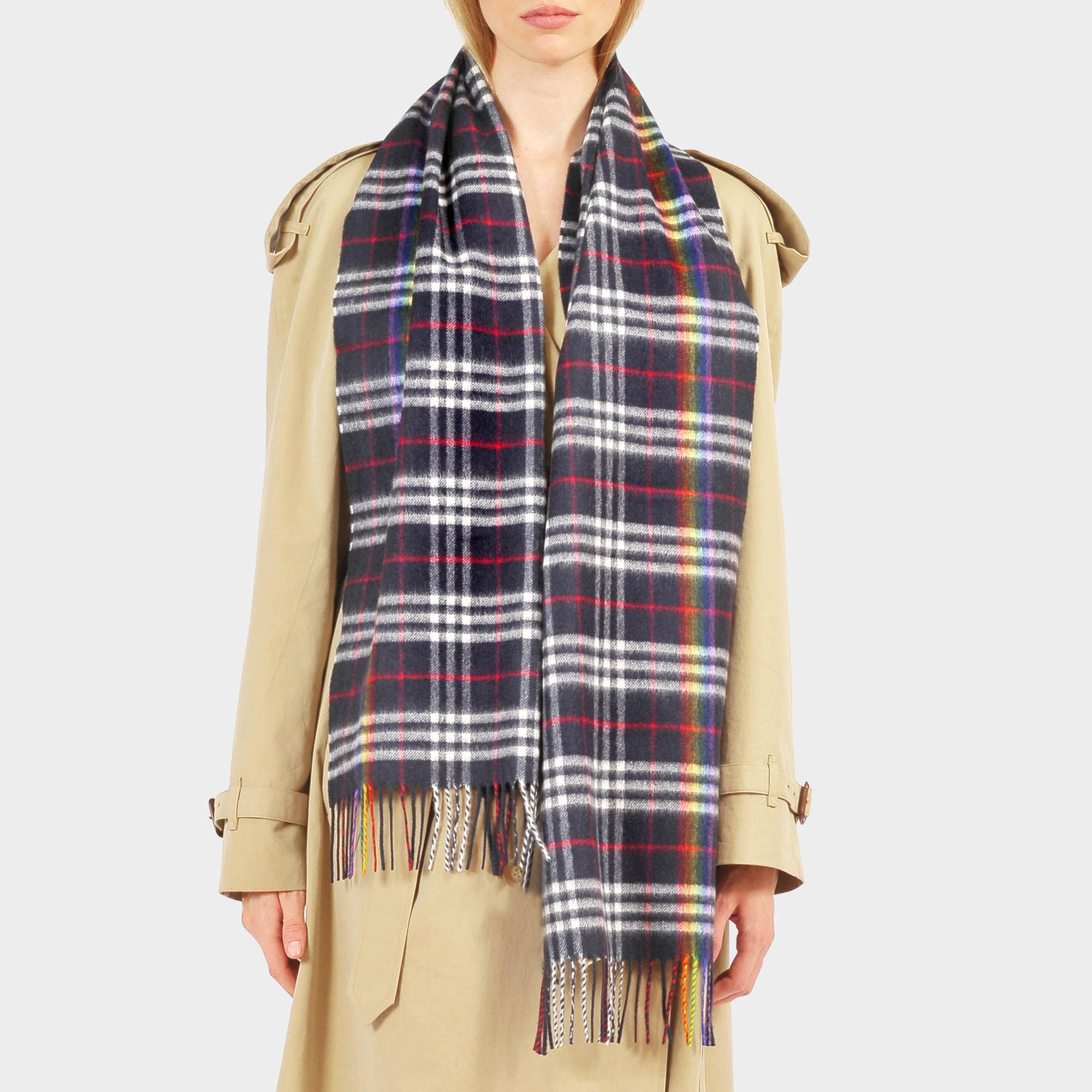 002402eb2f7 ... reduced burberry. womens the classic rainbow vintage check scarf d9439  fe8c9
