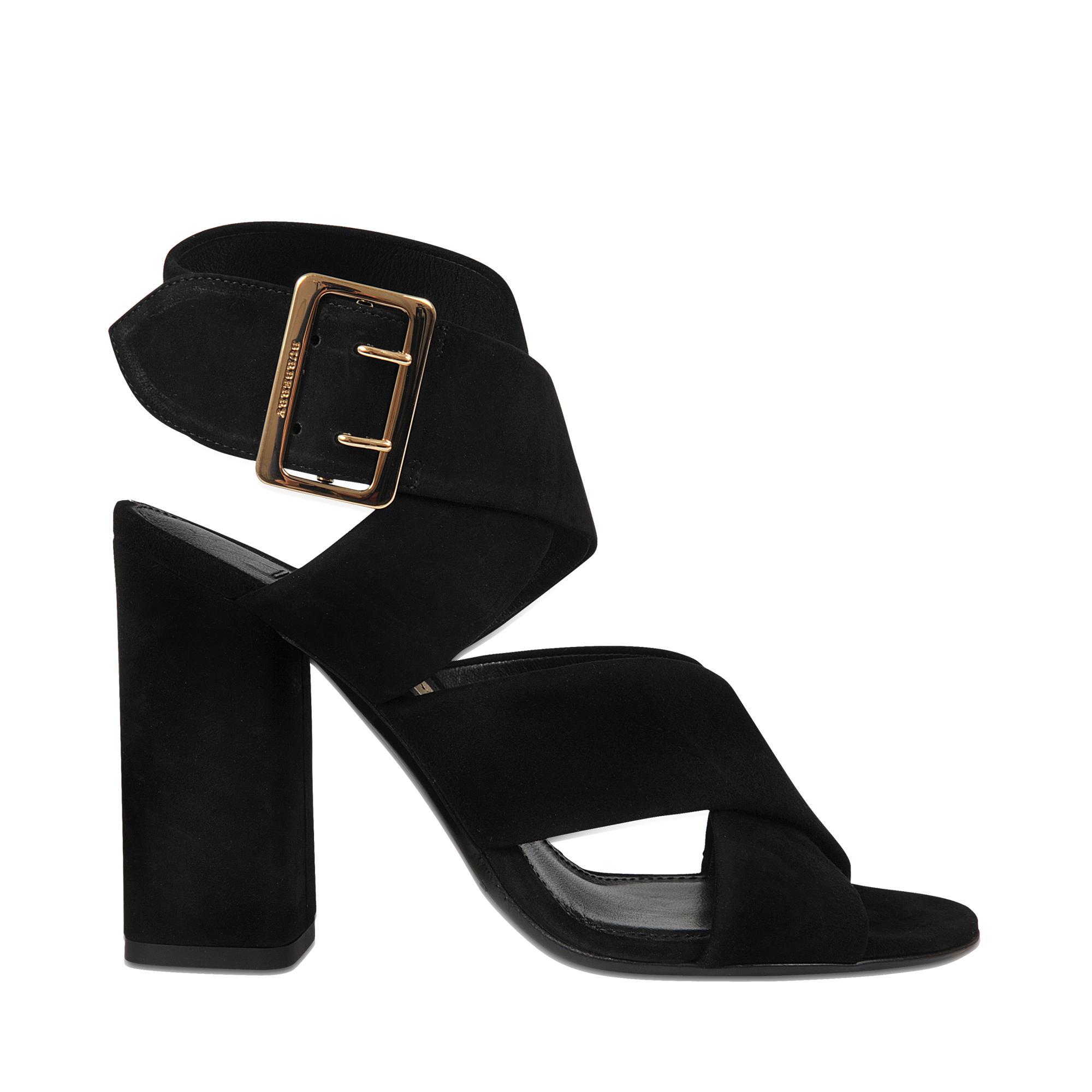 Blaine cross front suede sandal Burberry WabQx1