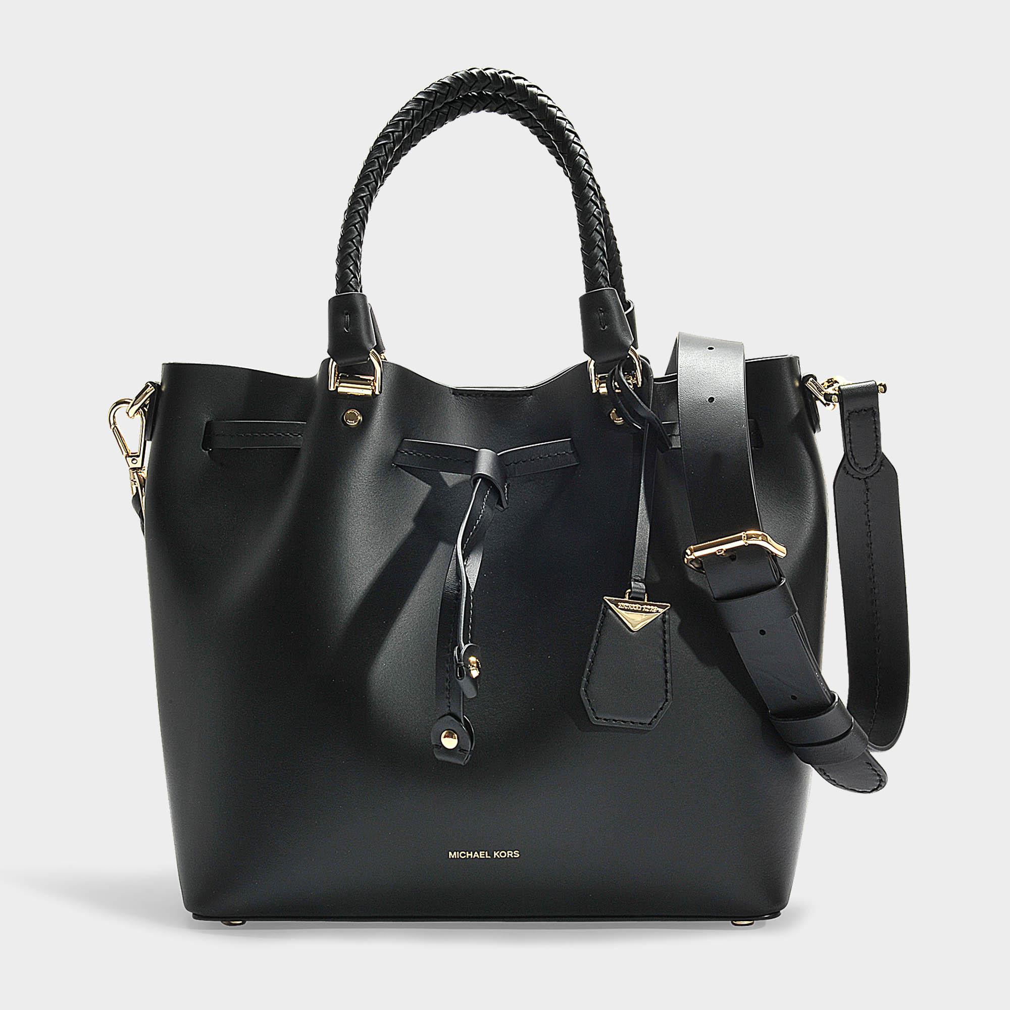 5c4c7afdb MICHAEL Michael Kors Blakely Medium Bucket Bag In Black Calfskin in ...