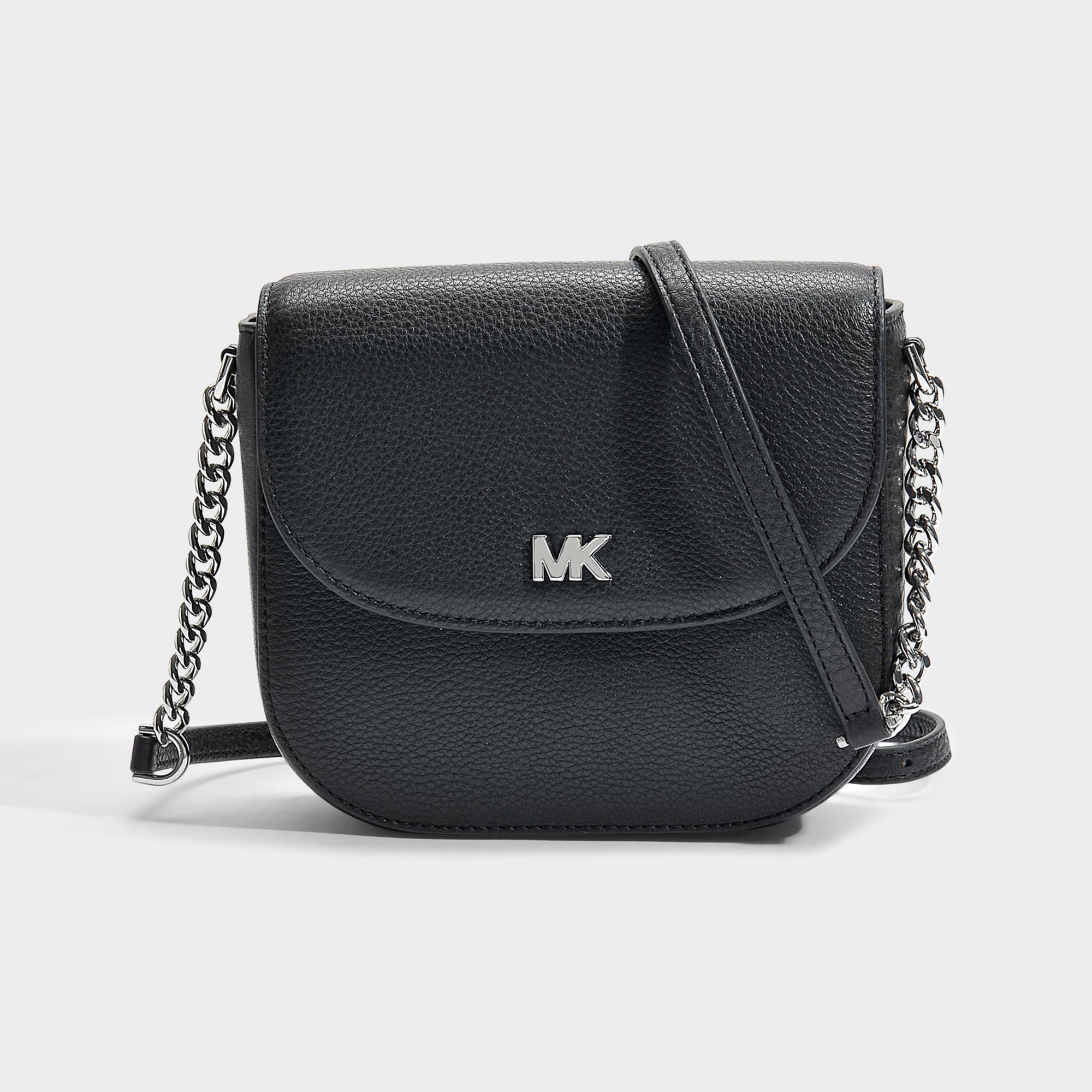 0e028f96e2e3 MICHAEL Michael Kors Half Dome Crossbody Bag In Black Small Pebble ...