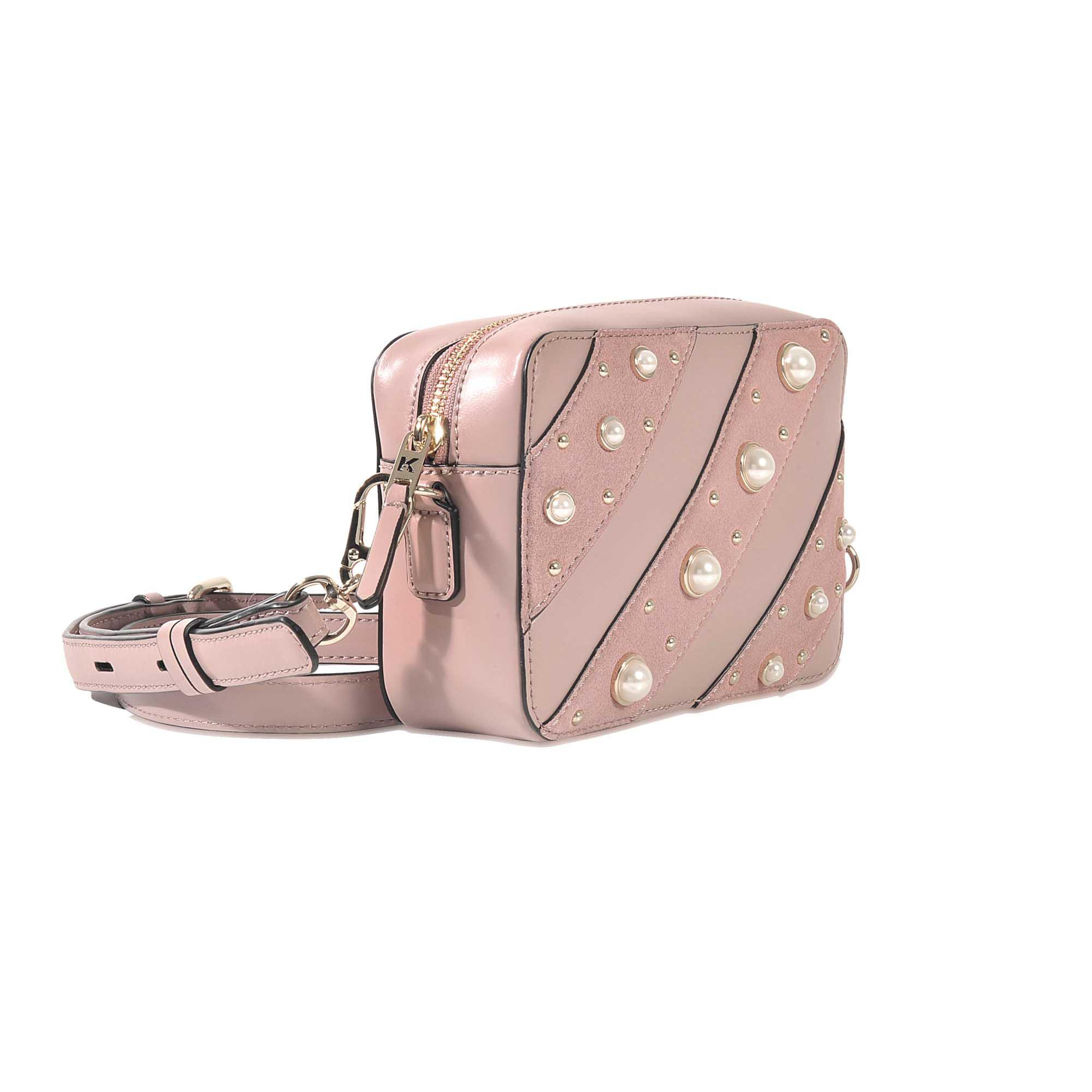 c4afc768d7e Lyst - Karl Lagerfeld K ikonik Pearls Camera Bag in Pink