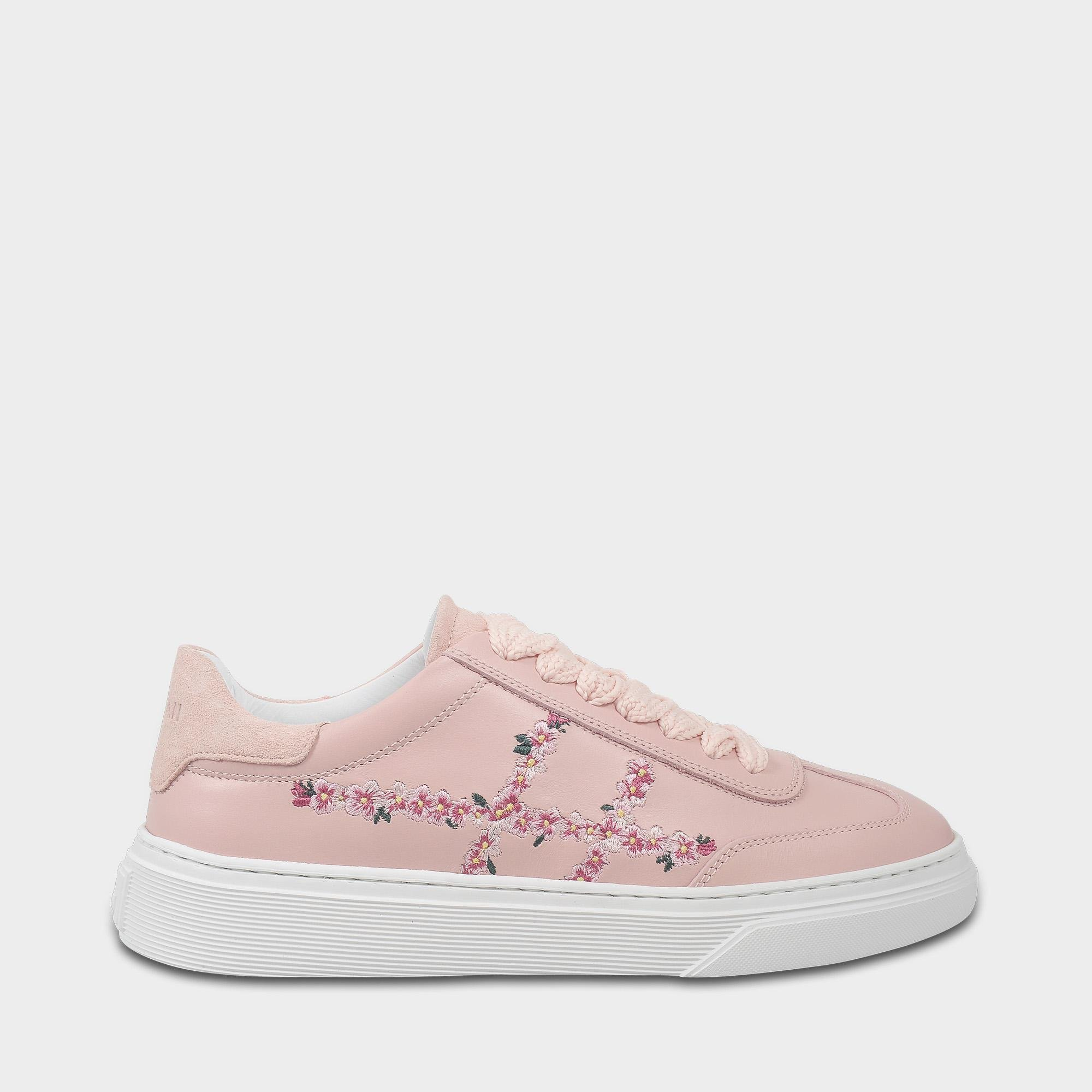 H258 Traditonal Suede Sneakers in Pink Leather Hogan gx2tnKM3