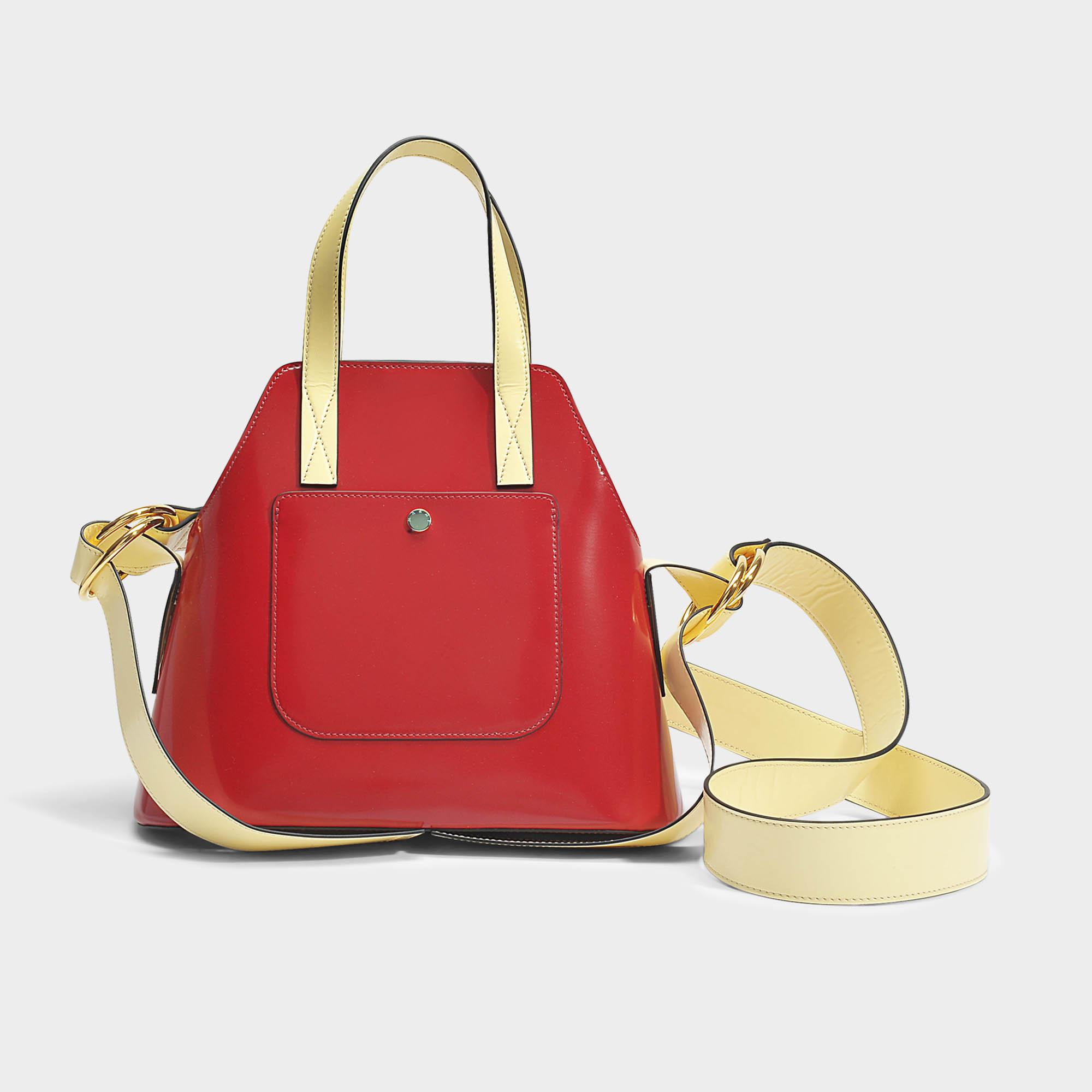 Small shopping Bag in Indian Red and Citron Domesticated Calf Marni w6BJXH