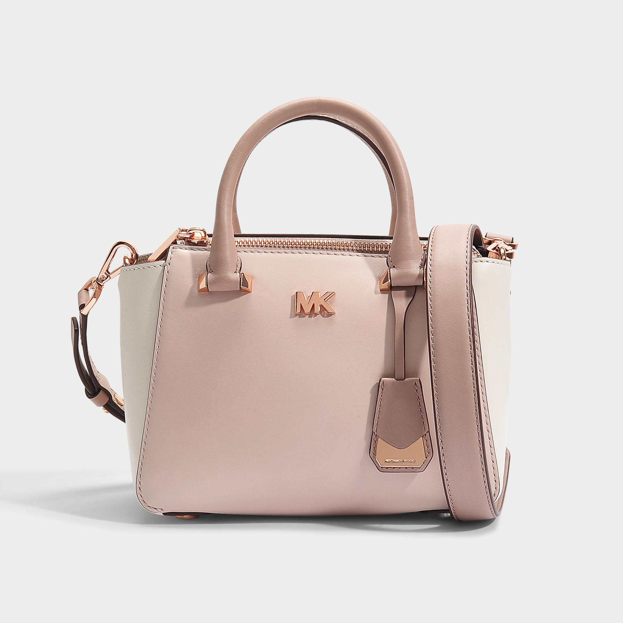 2ad9a75a3208f ... best price lyst michael michael kors nolita mini messenger bag in pink  and dac1e 7a6e9