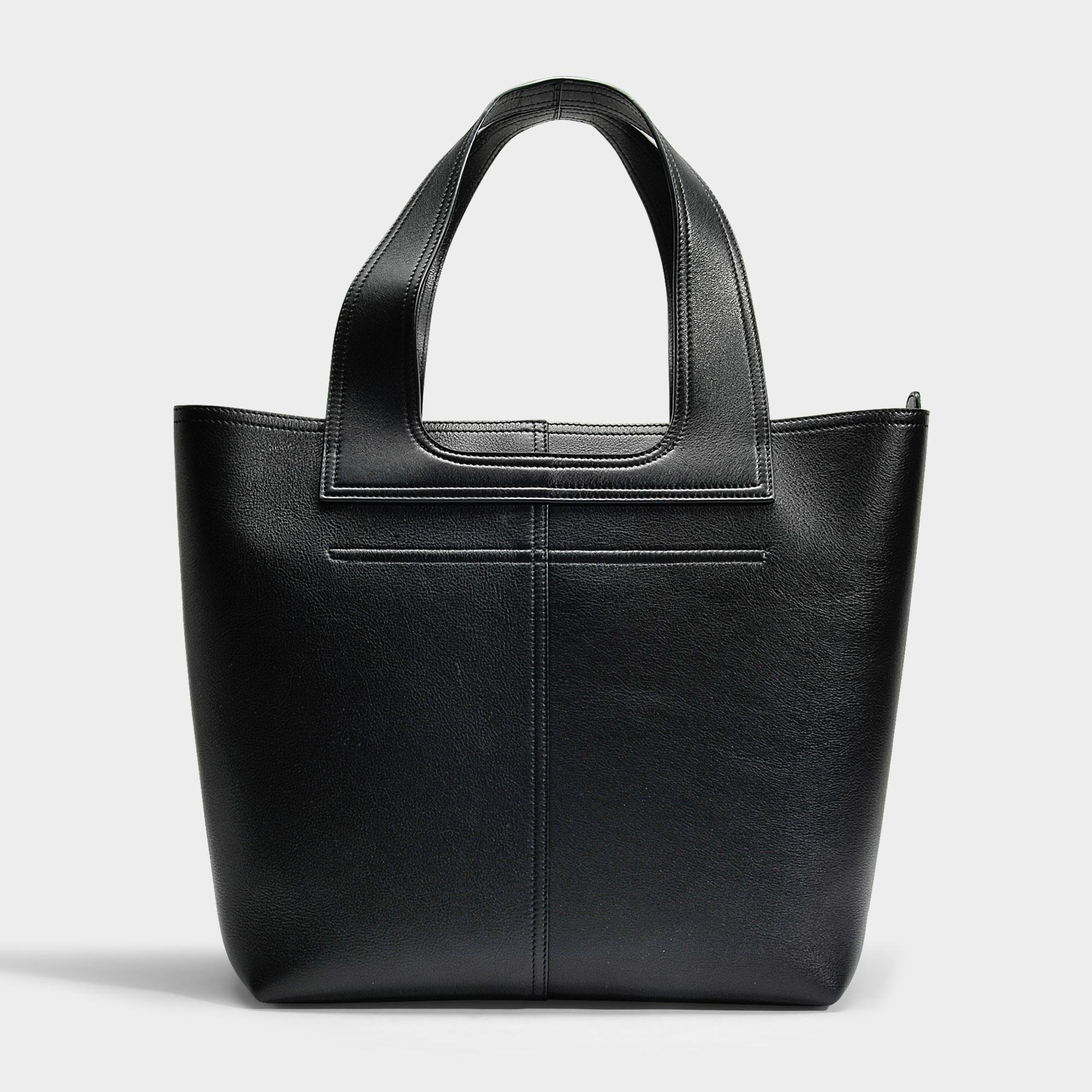 Apron Tote Bag in Black Celtic Calfskin Victoria Beckham f06hZ