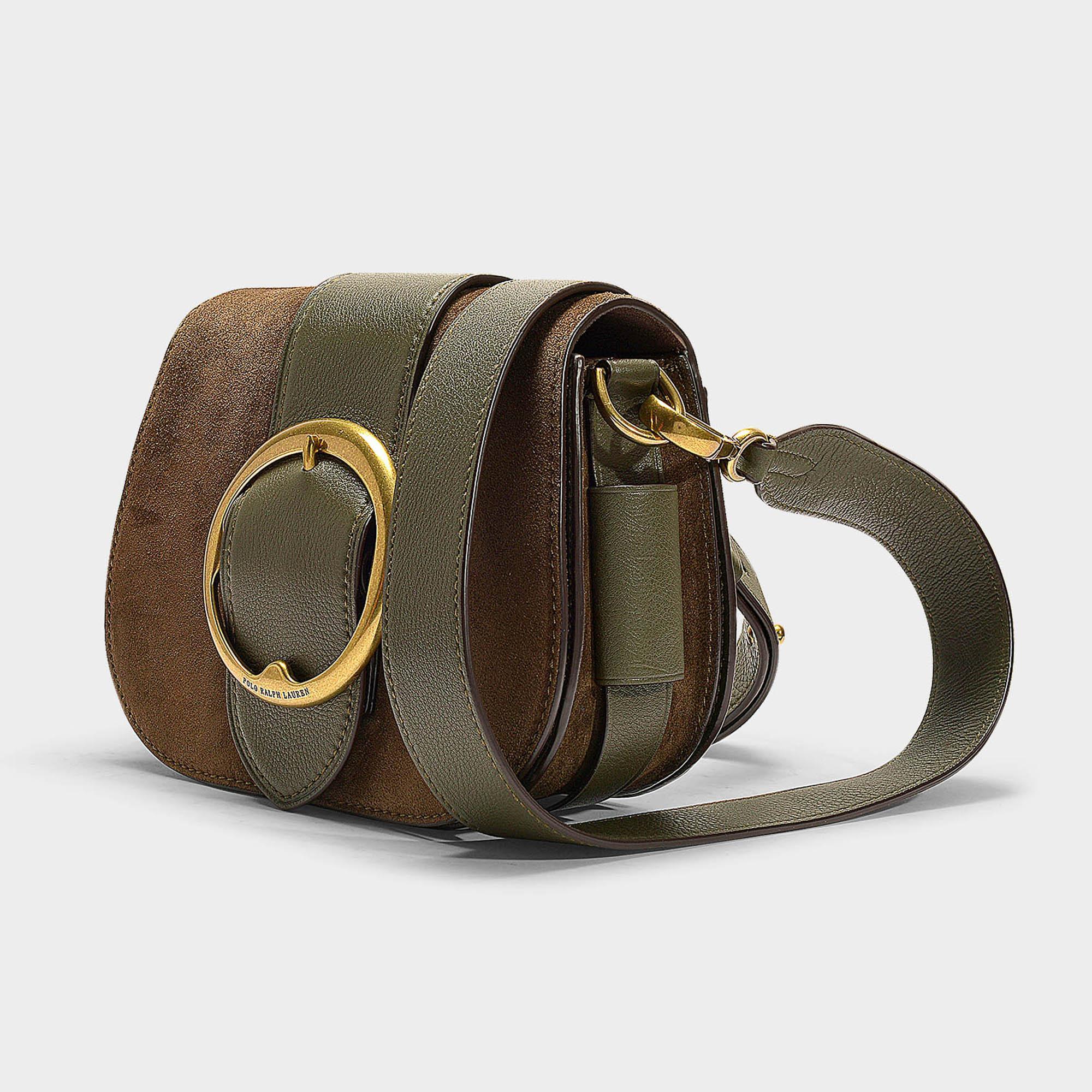 002a4d618e Lyst - Polo Ralph Lauren Belt Saddle Lennox Medium Crossbody Bag In ...