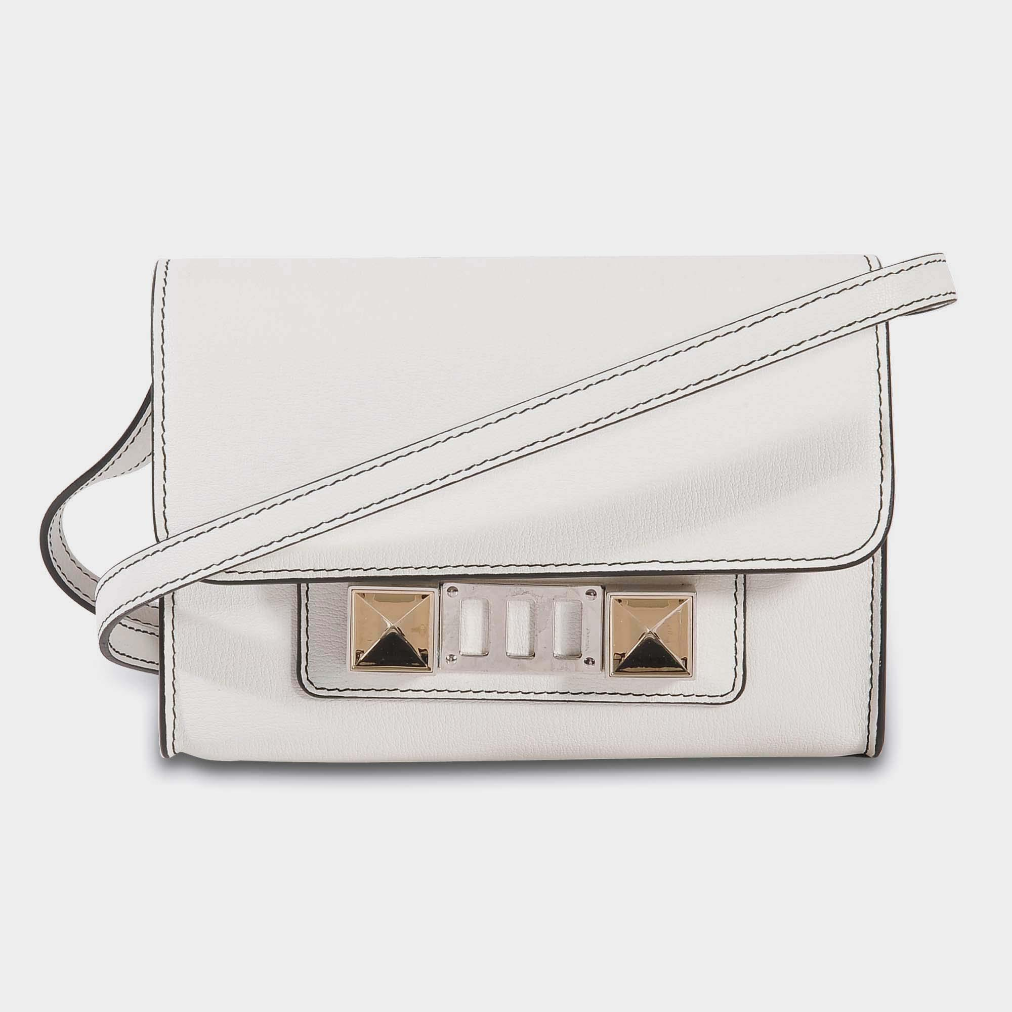 VIDA Leather Statement Clutch - Feather Wing Golden Grey by VIDA IS6vLv