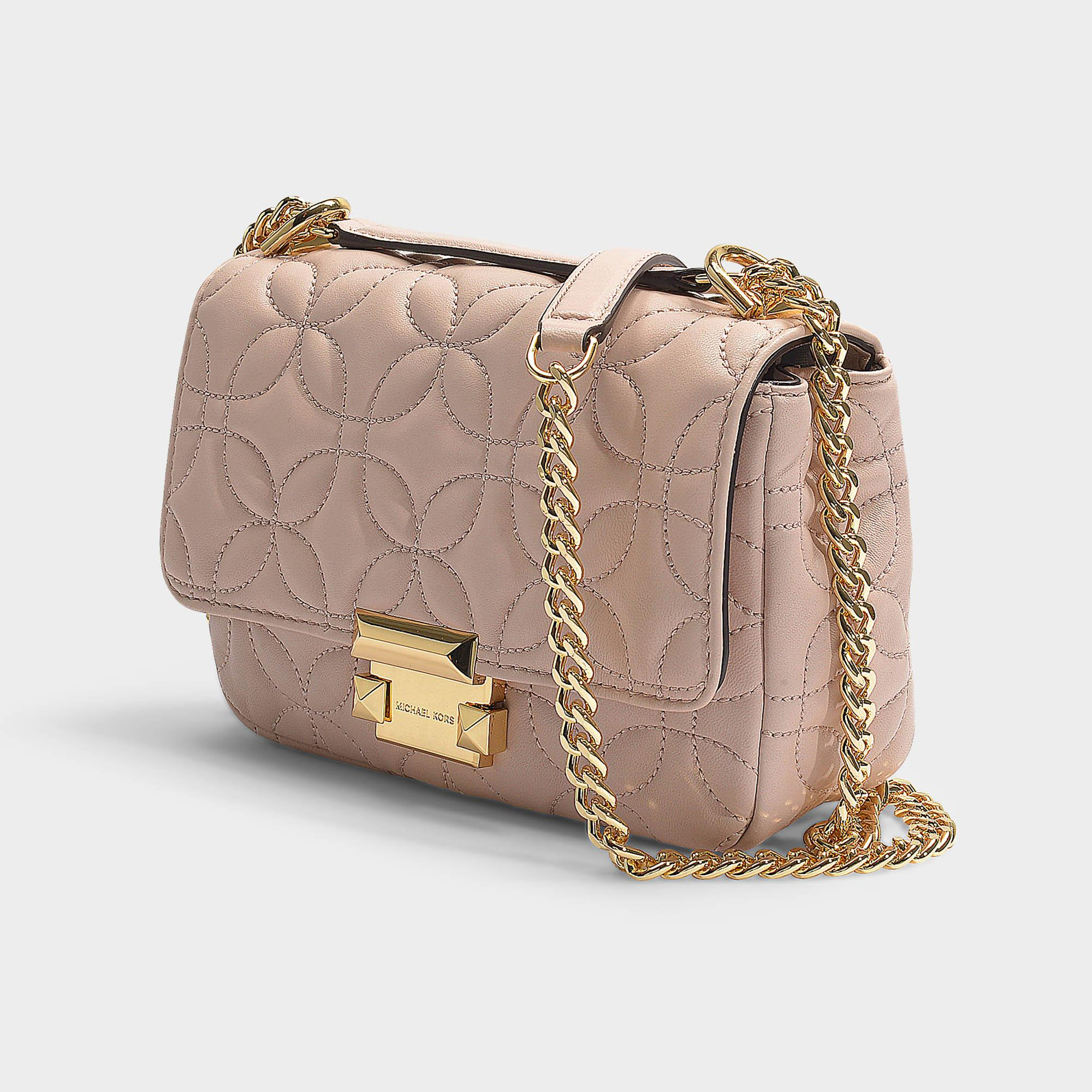 b2746515125 MICHAEL Michael Kors - Sloan Small Chain Shoulder Bag In Soft Pink Quilted  Lambskin - Lyst. View fullscreen