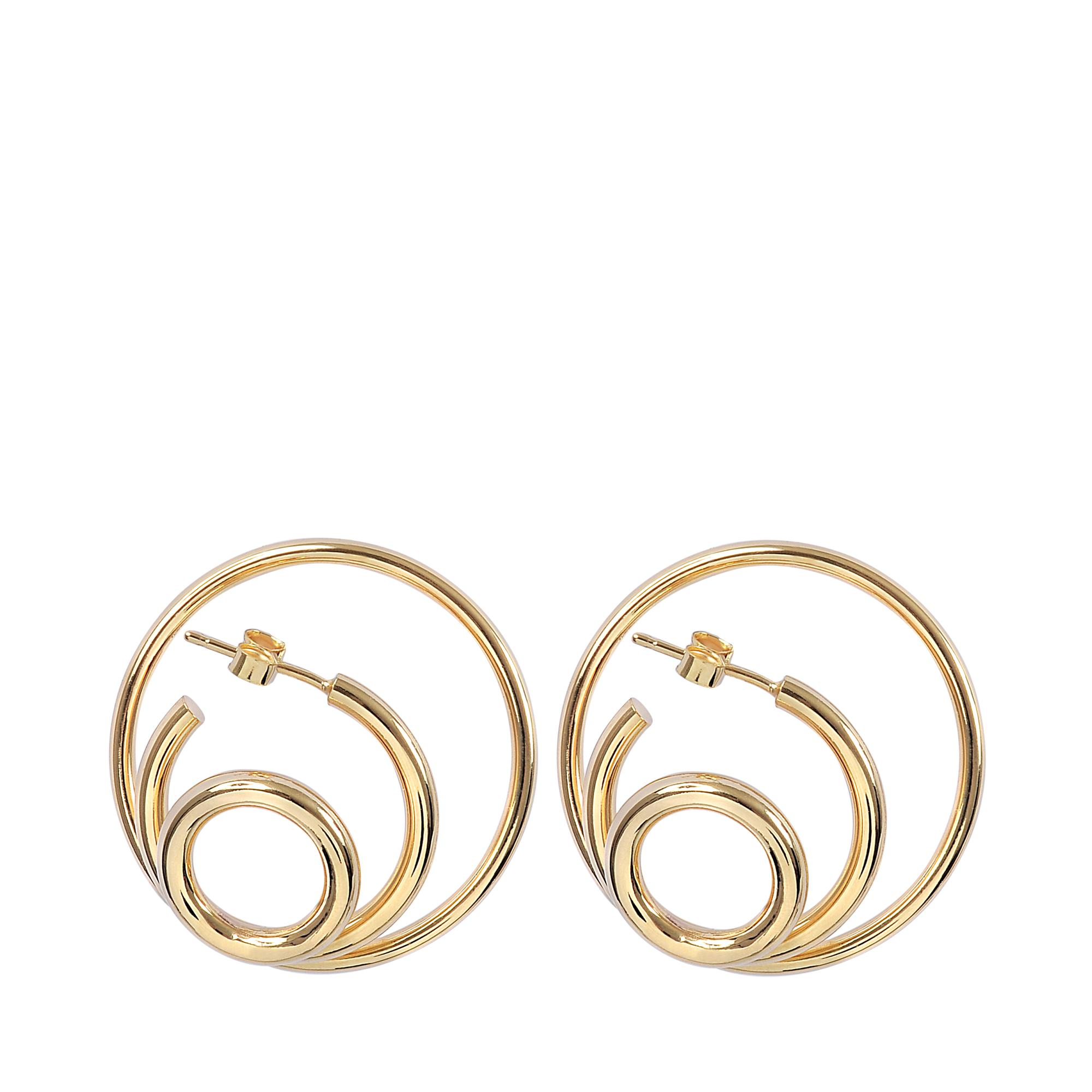 Charlotte Chesnais Ricoché M Earrings in Yellow Vermeil 4dwp8k