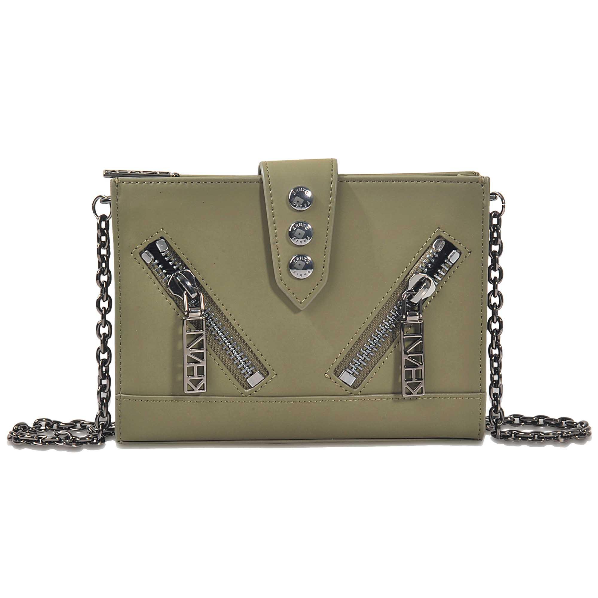 lyst kenzo kalifornia chain wallet in green save 50. Black Bedroom Furniture Sets. Home Design Ideas