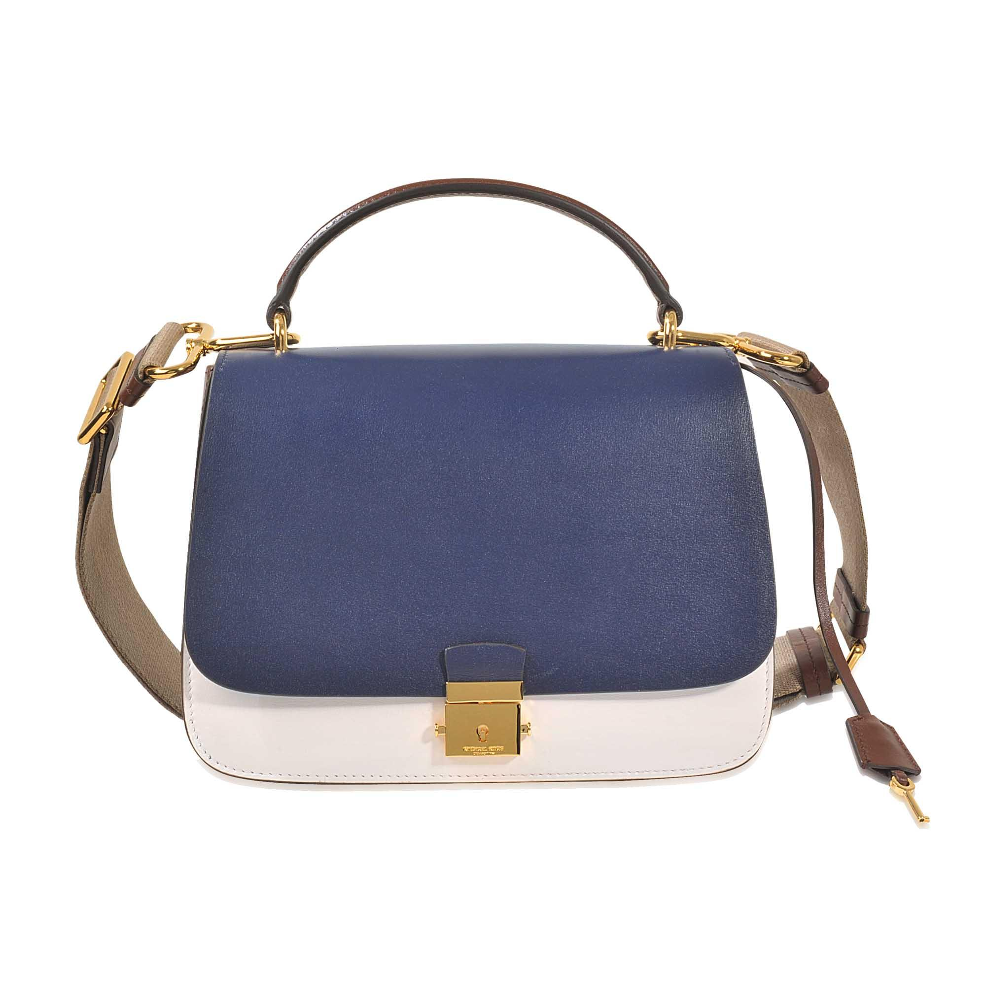 Michael Kors Mia Top Handle Bag With Guitar Strap Lyst