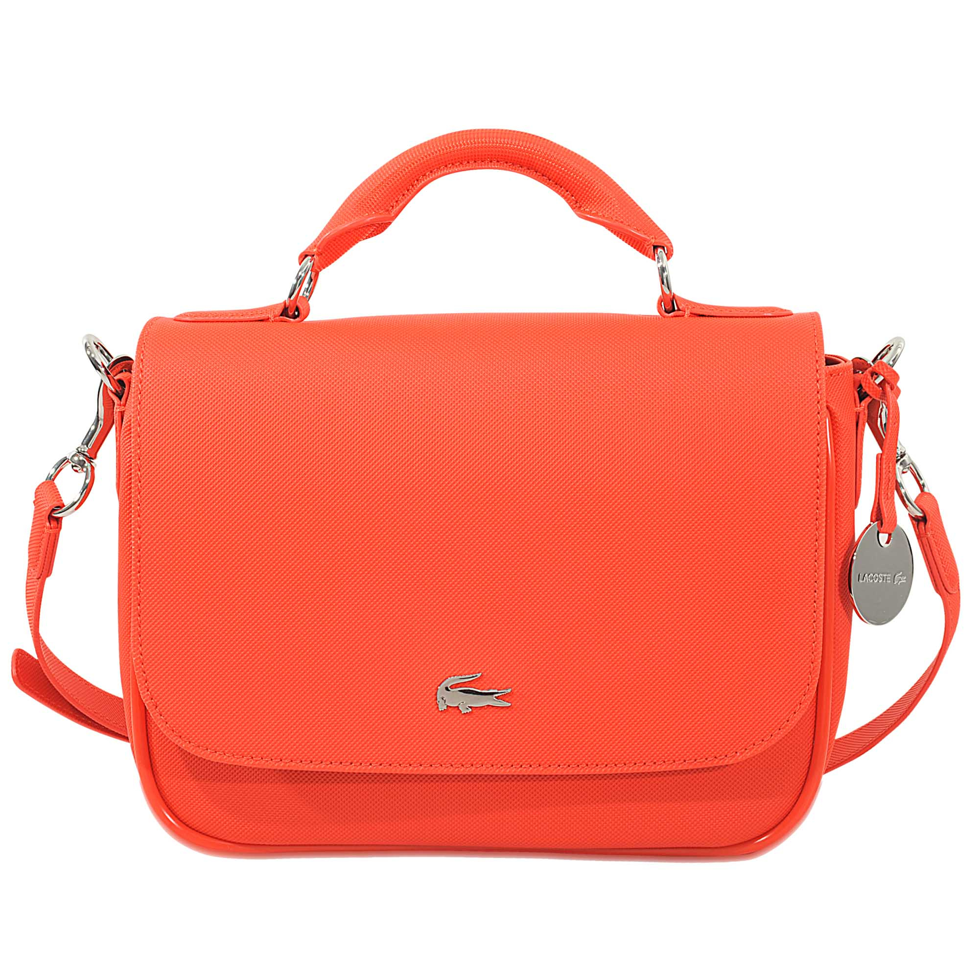 af3485998df326 Lyst - Lacoste Daily Classic Small Satchel Bag in Orange