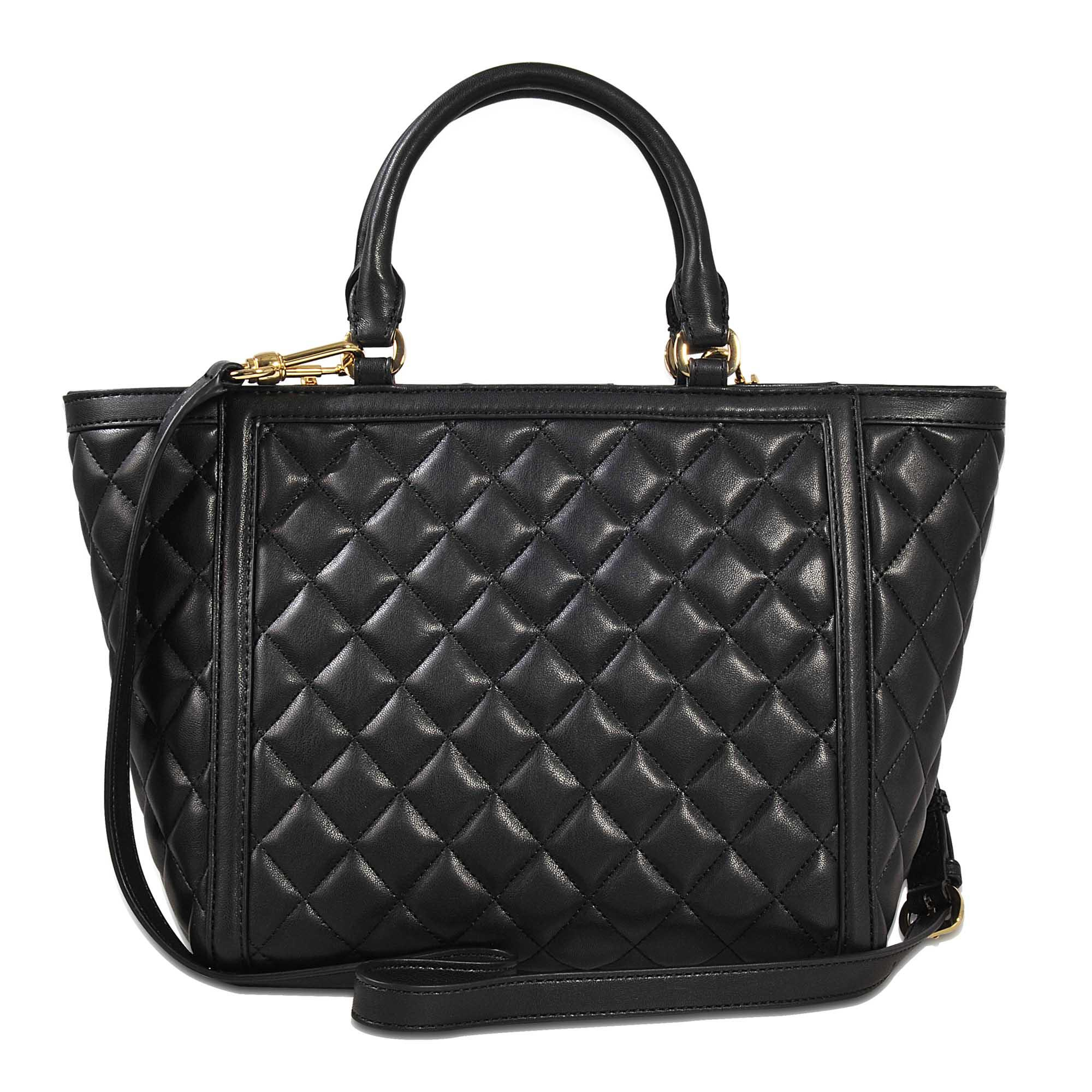love moschino quilted shopper bag in black lyst. Black Bedroom Furniture Sets. Home Design Ideas