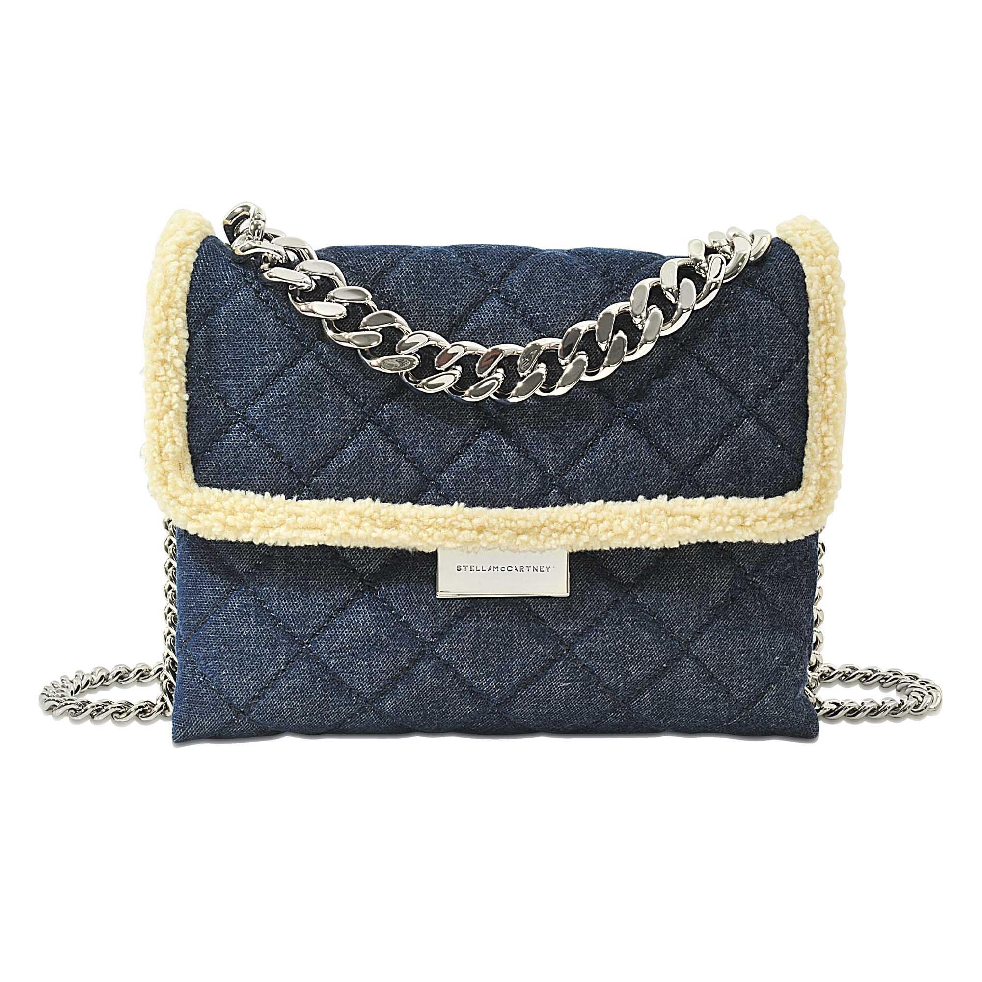 Lyst - Stella Mccartney Soft Beckett Denim Medium Bag b9baed8b8a1ce