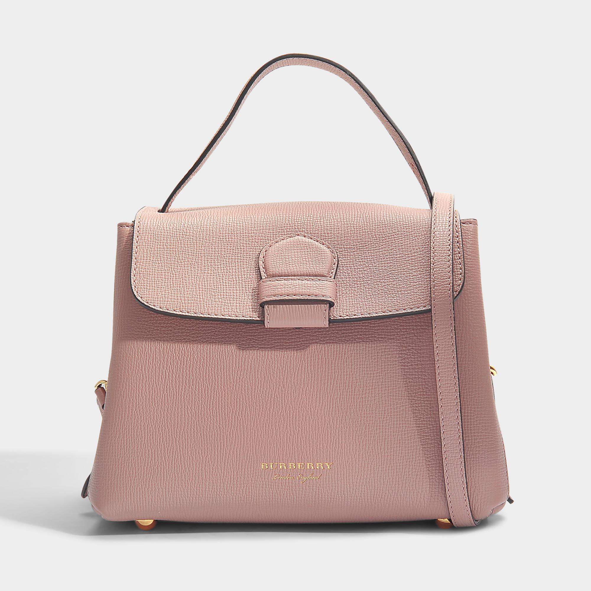 3971e13db986 Burberry Small Camberley Bag In Pale Orchid Grained Calfskin - Lyst