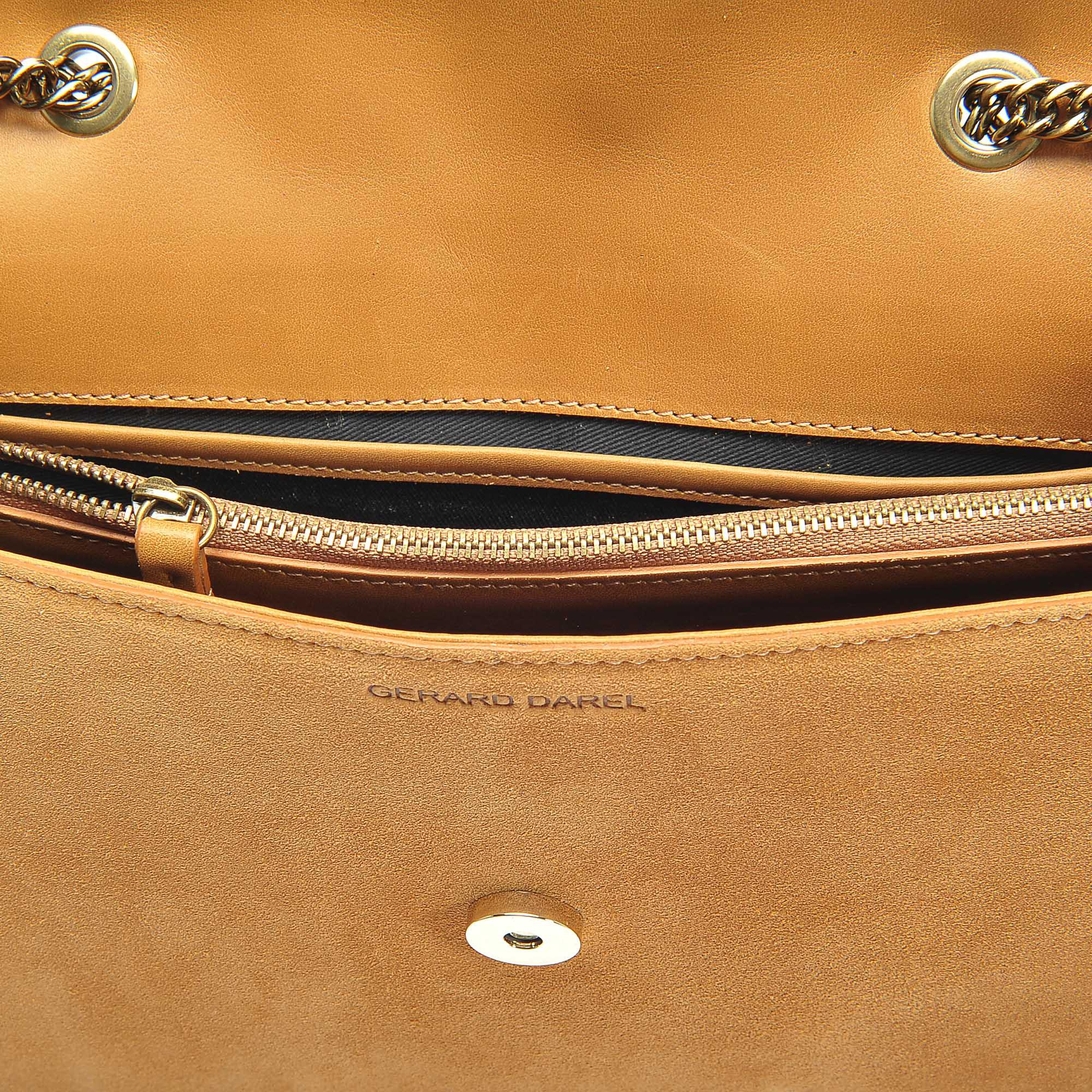 Lucky Bag in Tan Leather Gerard Darel h4VpPAl8W