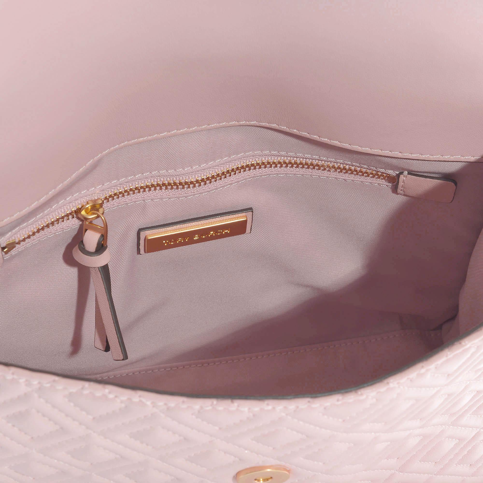 c8736a43902a Tory Burch - Fleming Convertible Shoulder Bag In Shell Pink Calfskin -  Lyst. View fullscreen