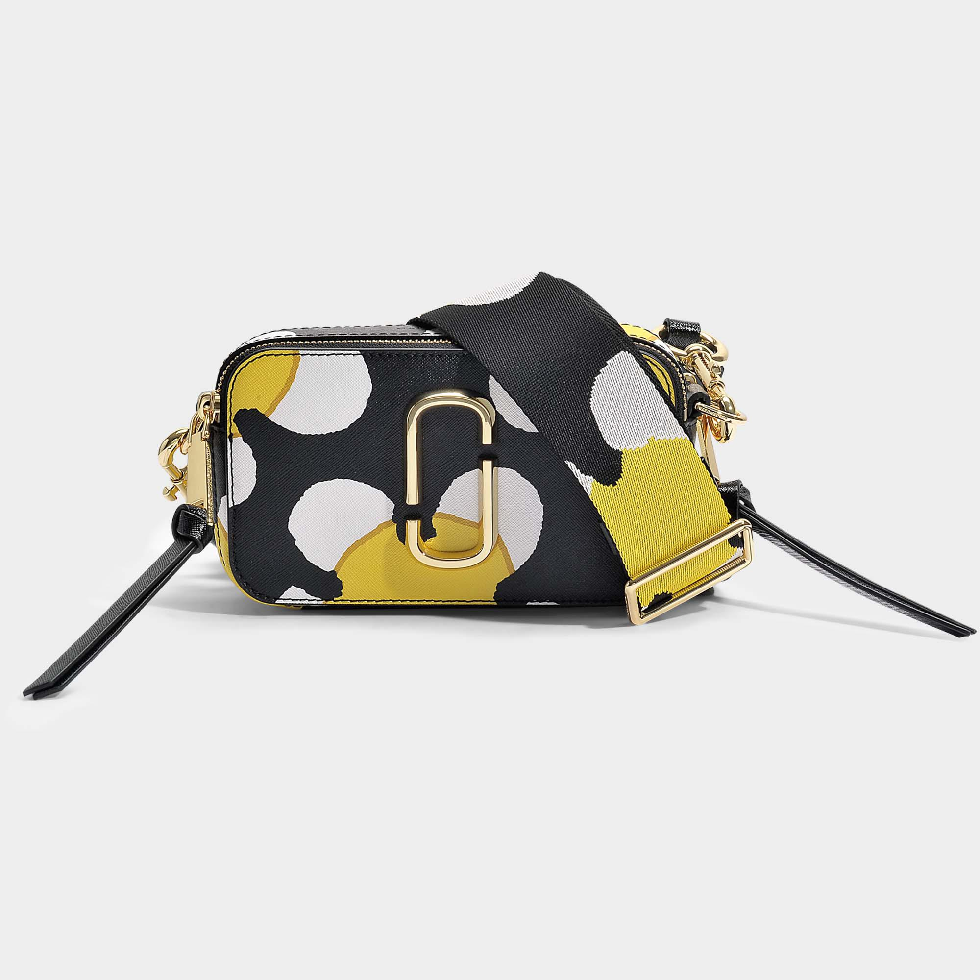 Snapshot Daisy Crossbody Bag in Yellow Split Cow Leather with Polyurethane Coating Marc Jacobs WAr2KrPO