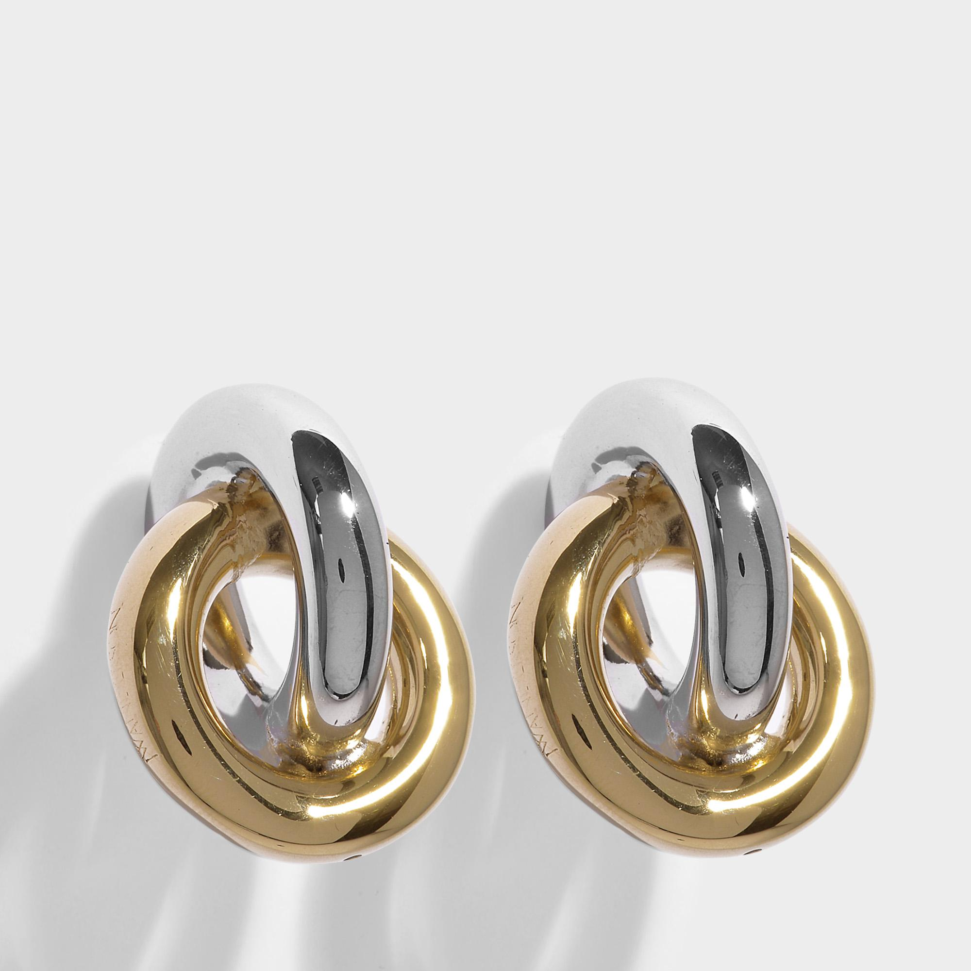 J.W.Anderson Double Earrings in Silver and Gold Eco Brass mnL8FbEbb5