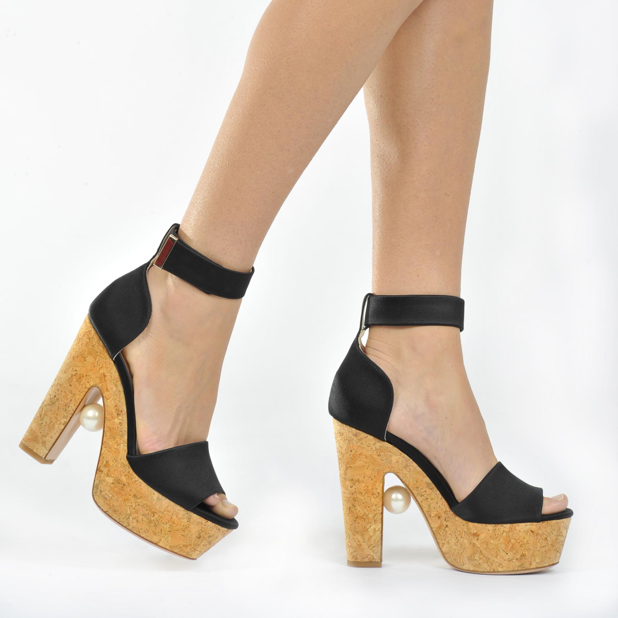 Sandales compensées à plateforme Maya PearlNicholas Kirkwood jMZYAQO