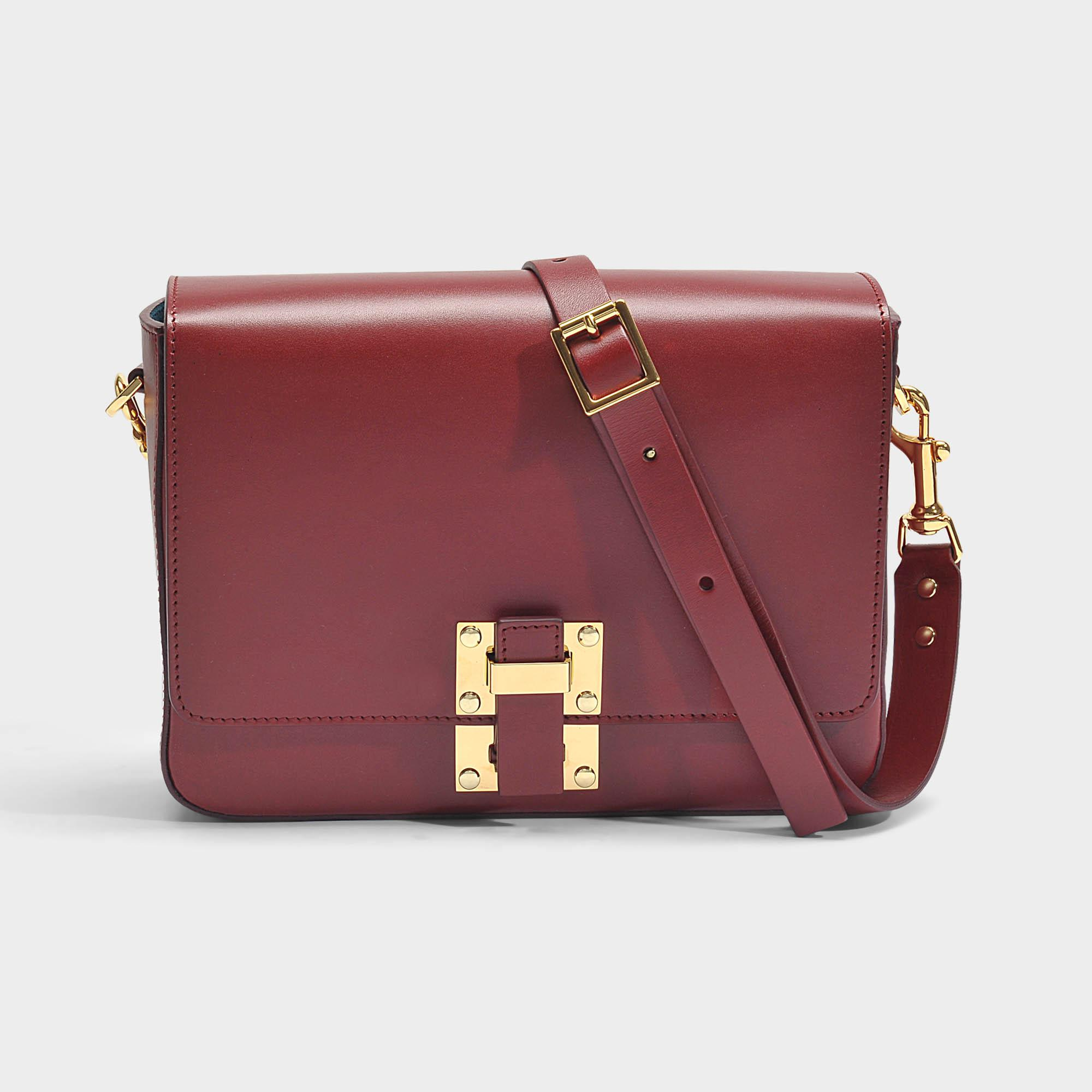 The Quick Large Bag in Fire Brick Cow Leather Sophie Hulme ZxX5sisyS