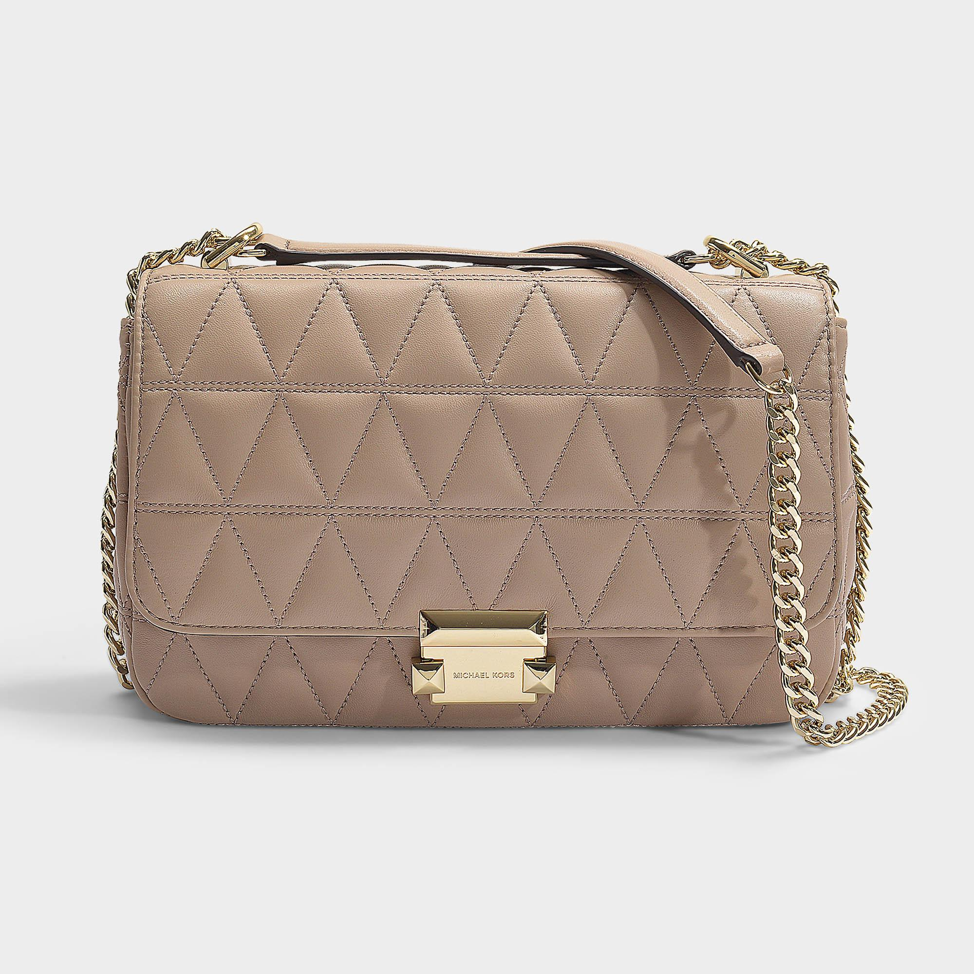 c1fd14b4ba38 MICHAEL Michael Kors. Women s Natural Sloan Large Chain Shoulder Bag In Truffle  Quilted Lambskin