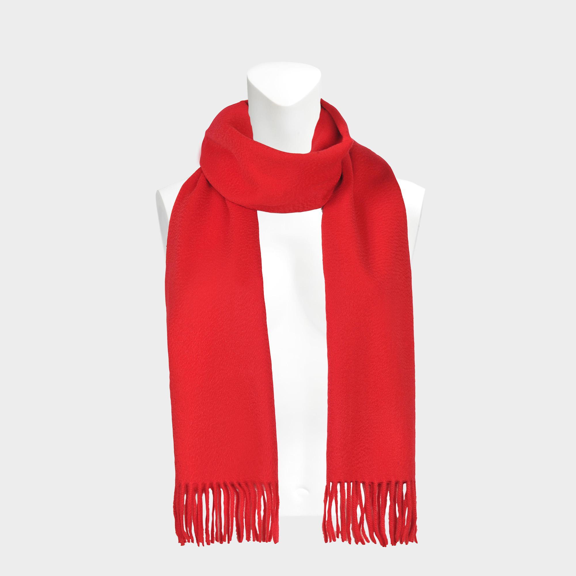a0ca8bfa84fe Lyst - Echarpe classique en cachemire rouge gorge Eric Bompard en ...