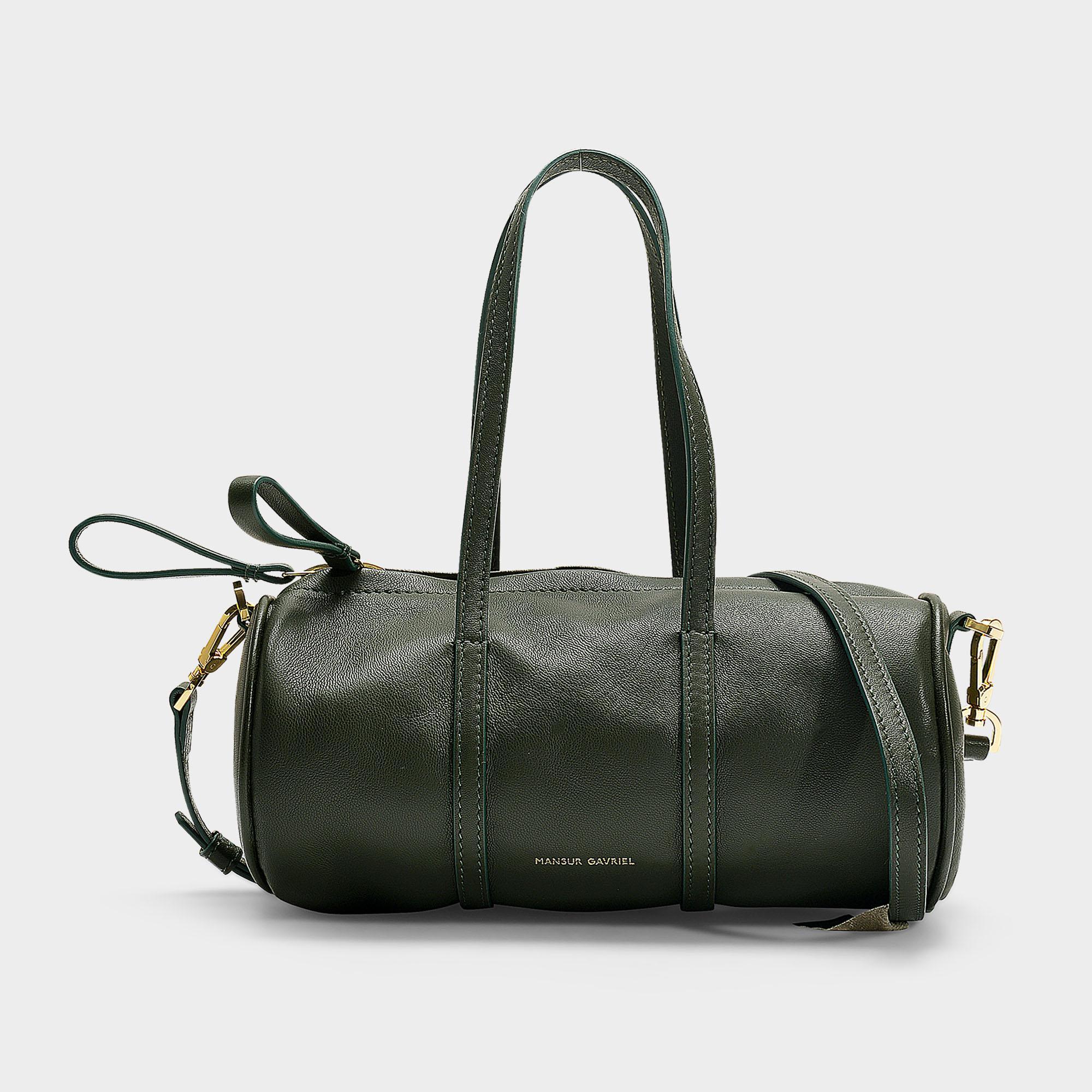631956b0883a Mansur Gavriel - Green Mini Gym Bag In Pink Calfskin - Lyst. View fullscreen