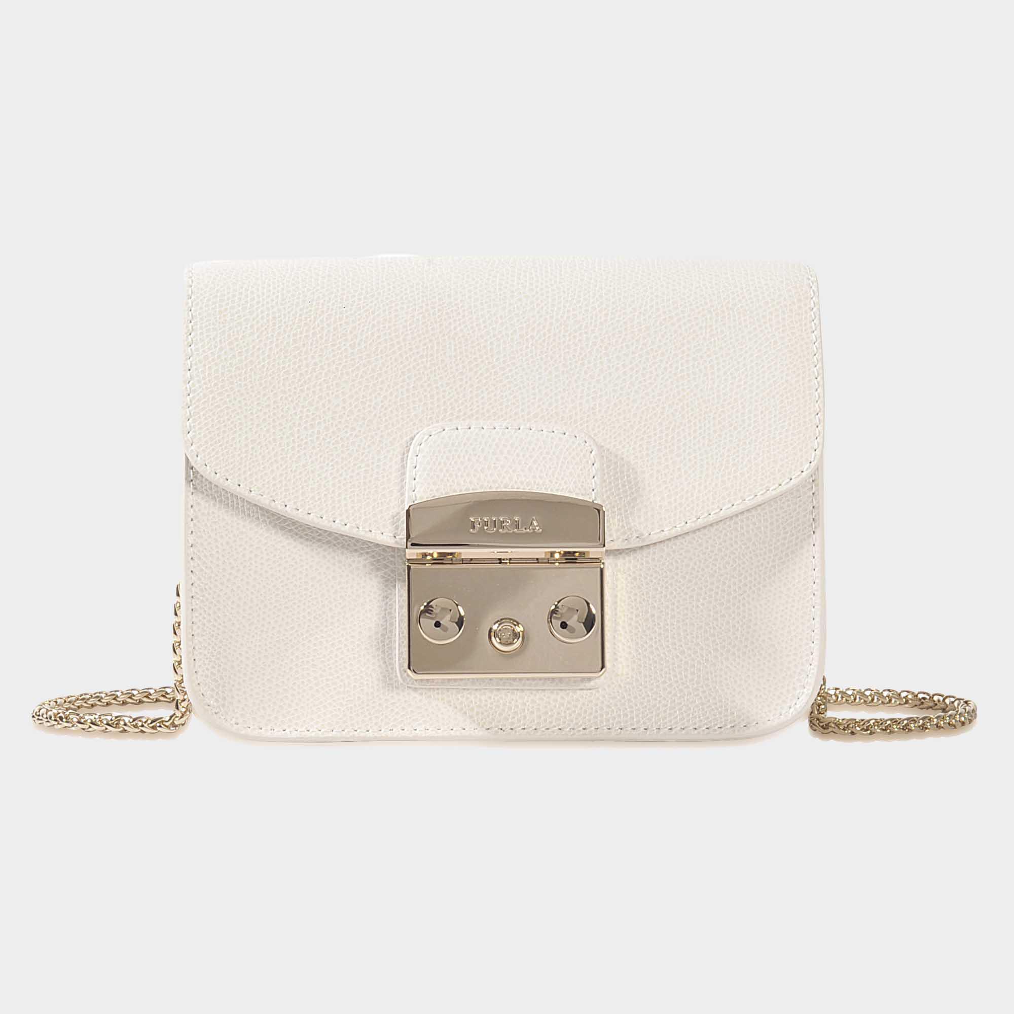 75a6aff053 Furla Metropolis Mini Crossbody Bag In Petalo Ares Leather in White ...