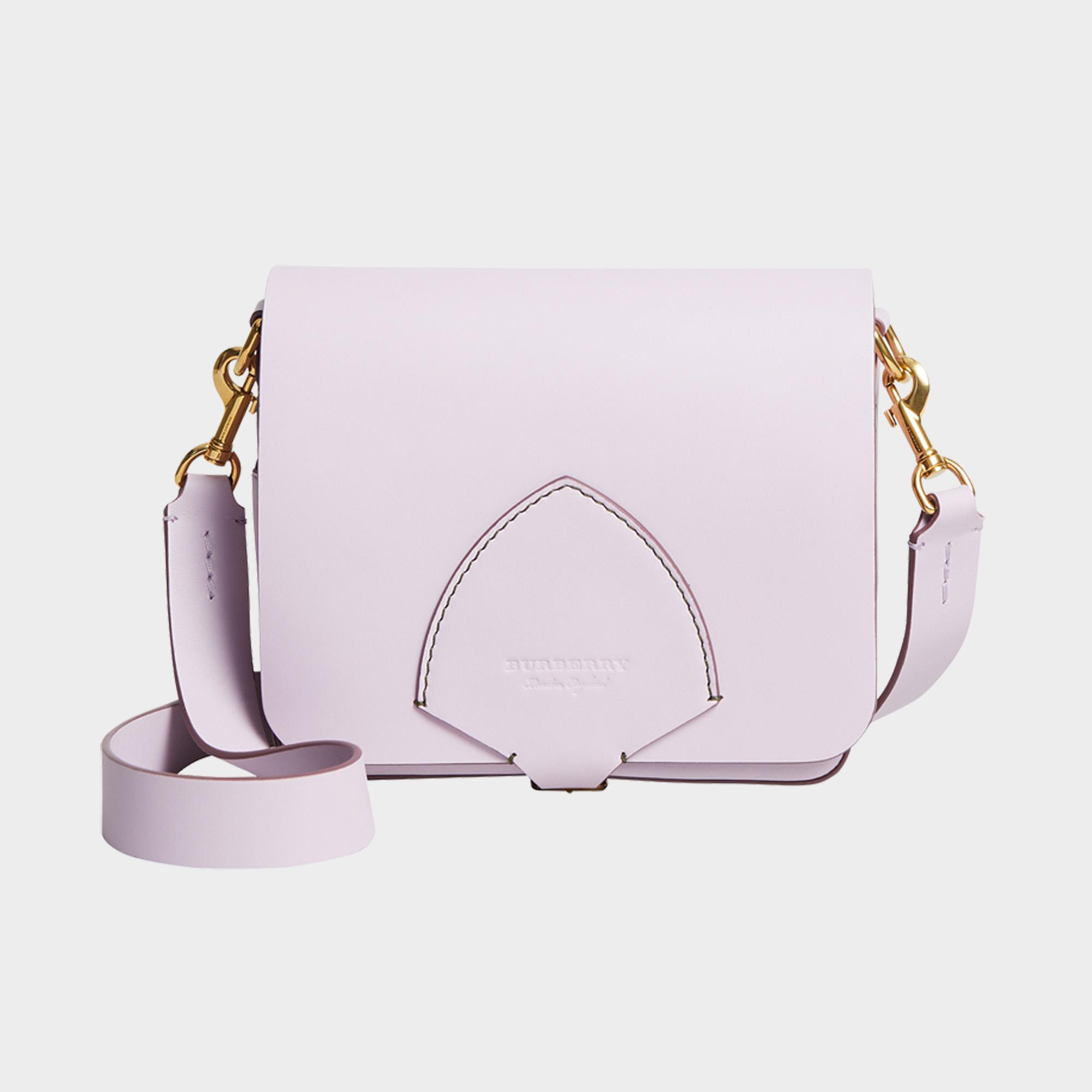 The Square Satchel Bag in Pale Lavender Supple Leather Burberry ln7vKq2