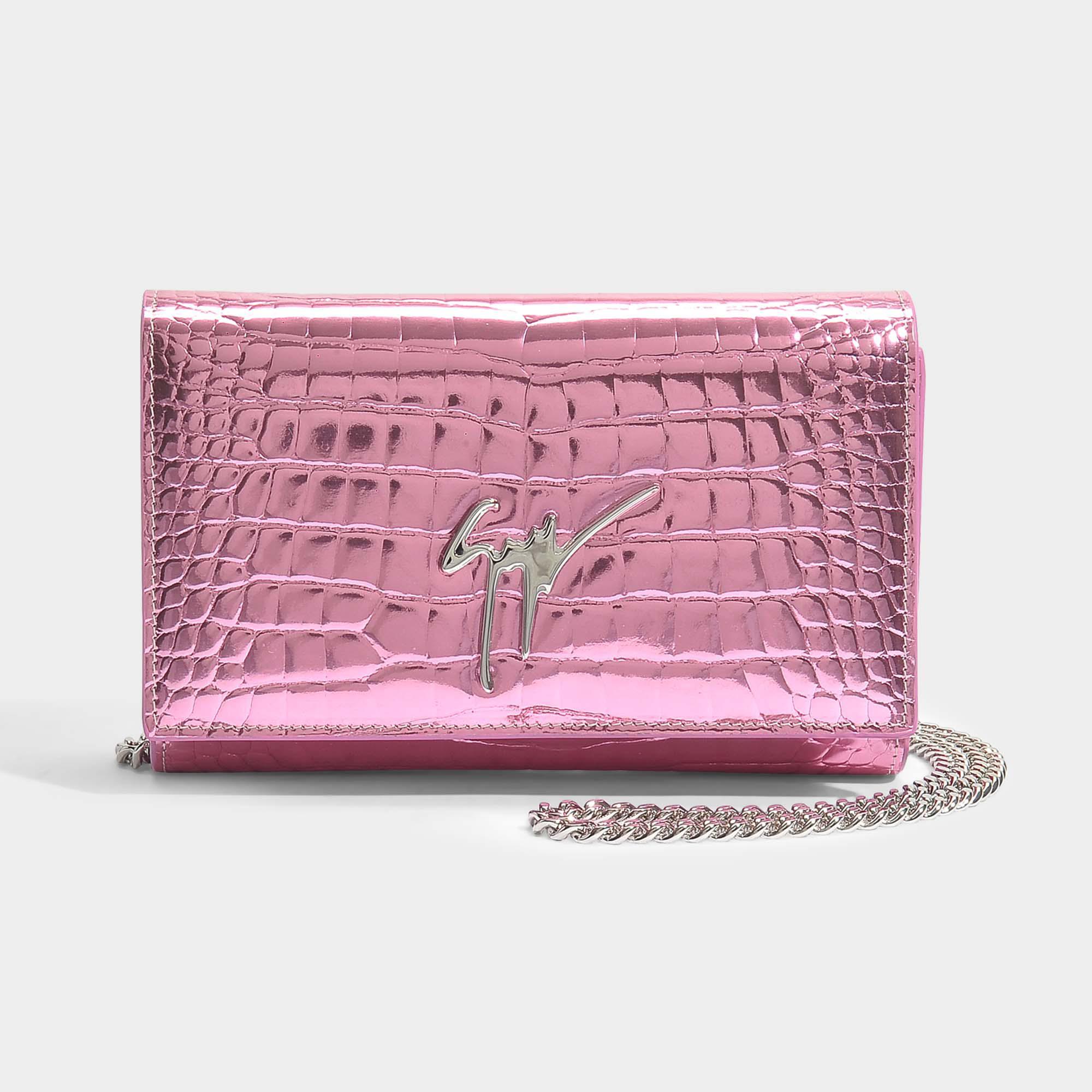 Elettra Small Bag in Pink Elettra Leather Giuseppe Zanotti 4U5L4lto