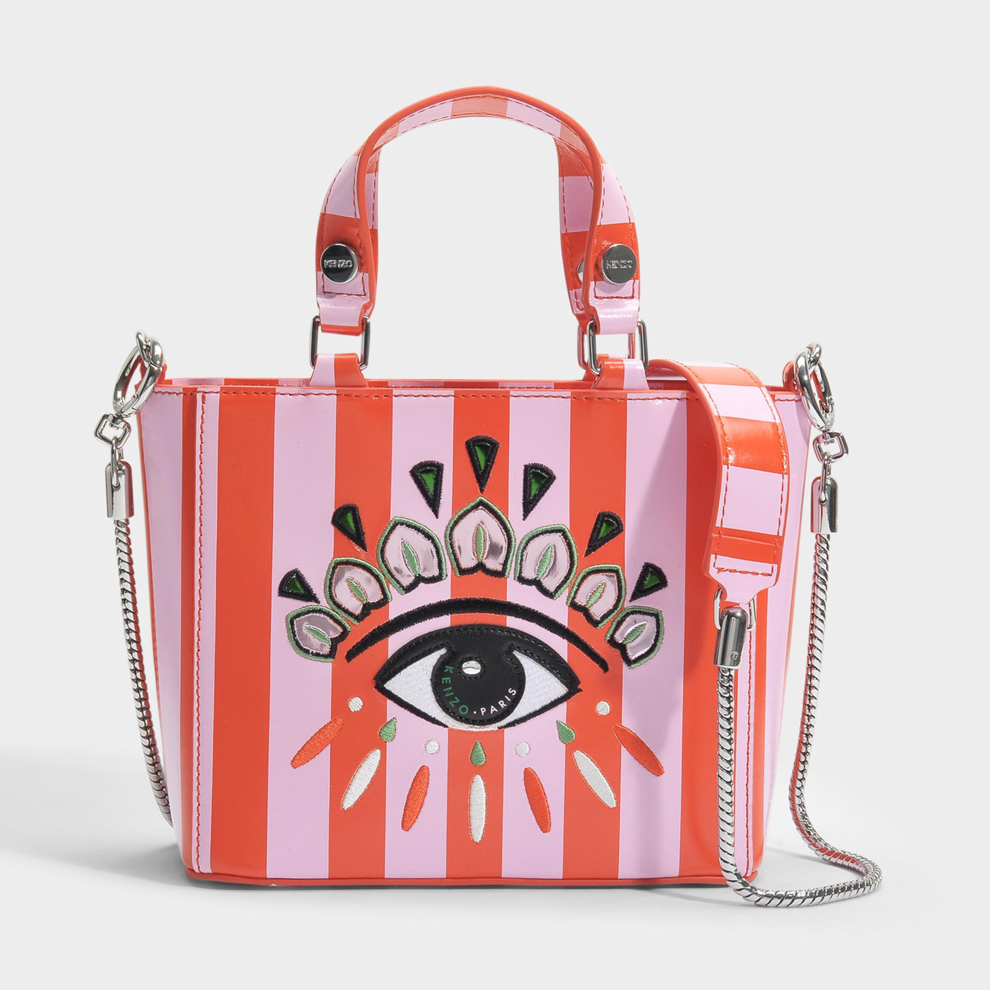 89c95877822d Lyst - KENZO Icon Top Handle Bag In Red Split Leather in Red