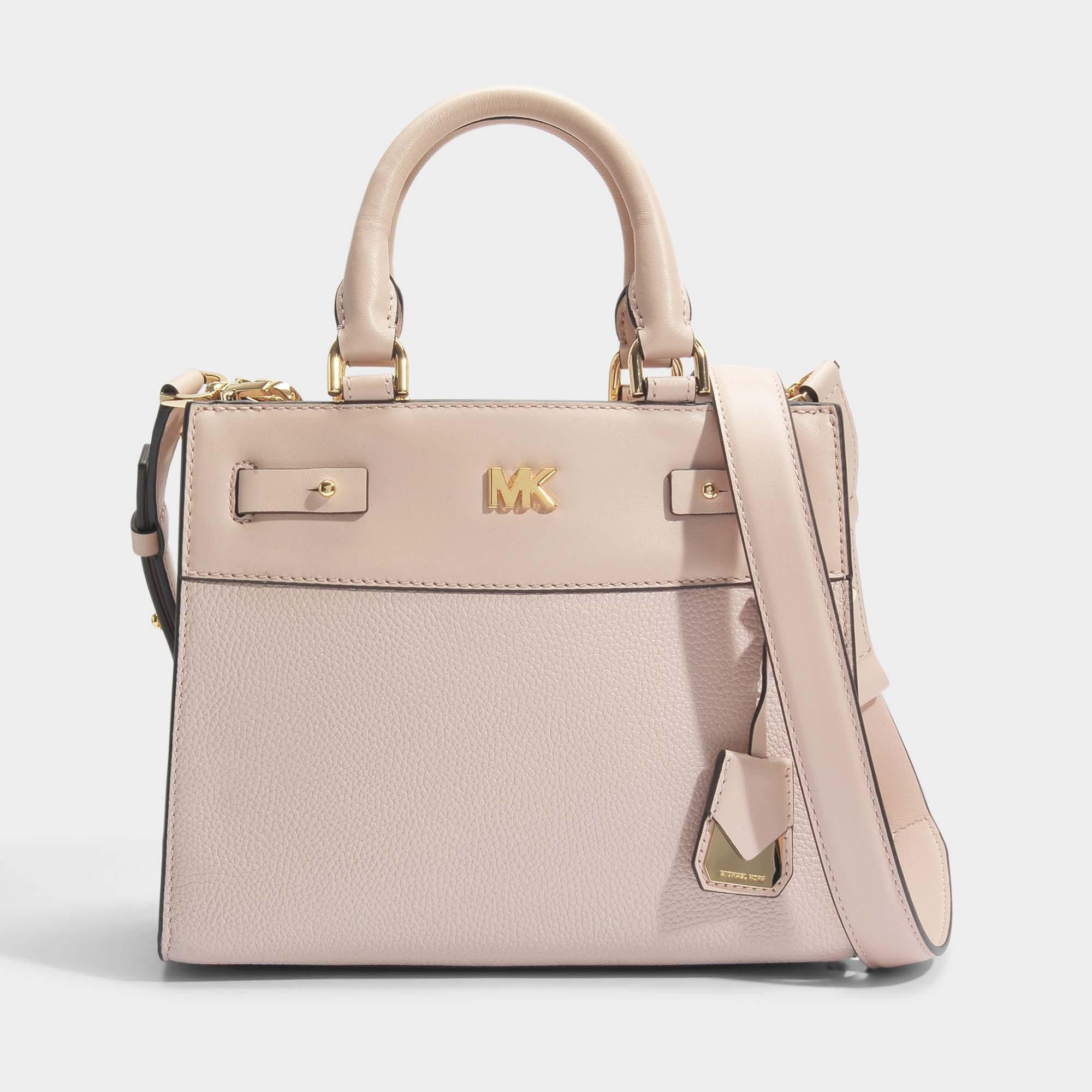 Michael Michael Kors Mott Uptown Mini Messenger Bag in Soft Pink Small Pebble Leather bJRKA5