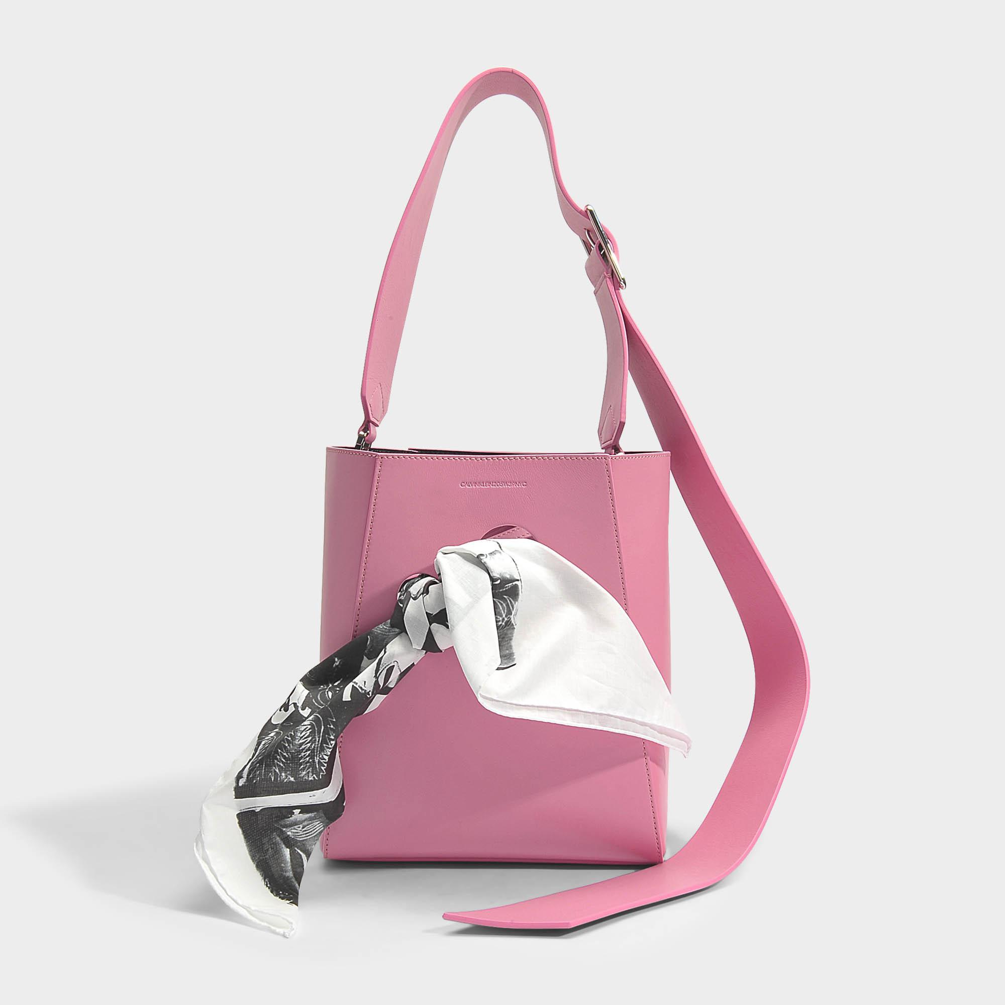 Small Bucket Bandana Bag in Black Calf CALVIN KLEIN 205W39NYC kL9ZO2
