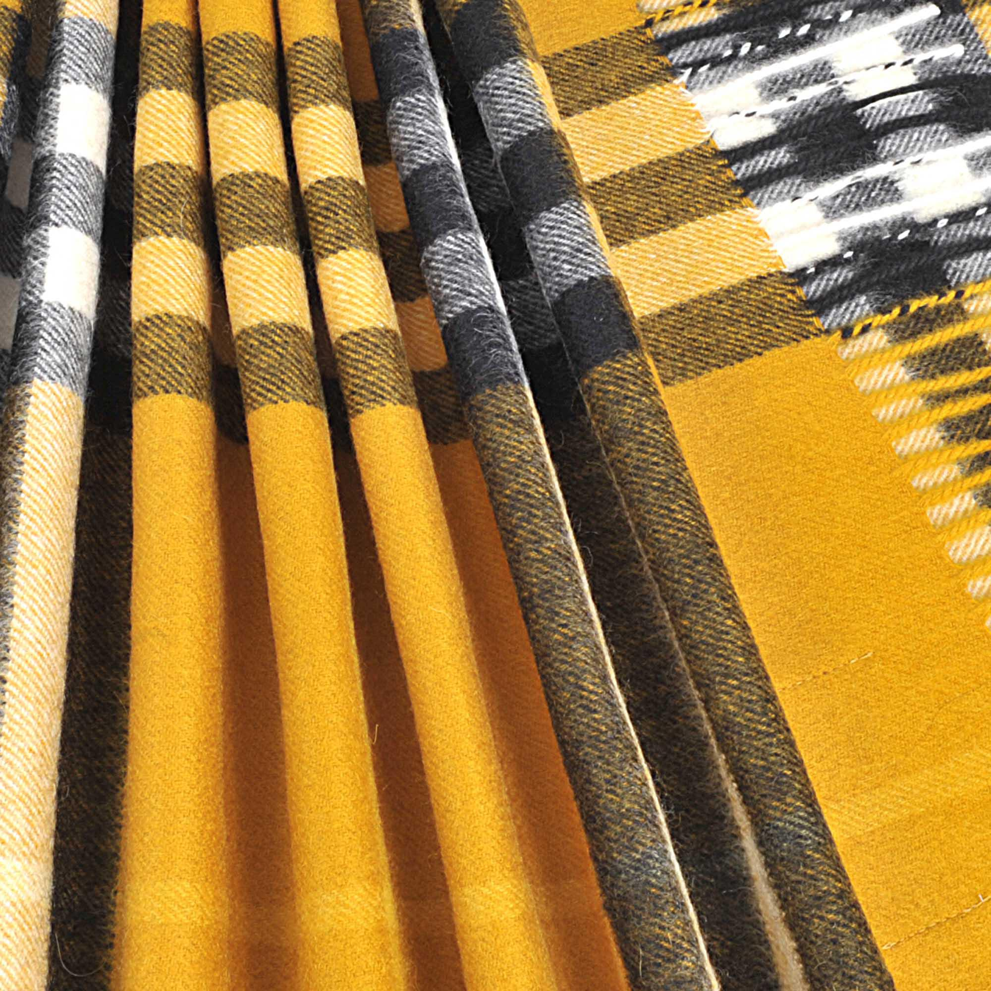 Burberry - Yellow Giant Icon Check Cashmere Scarf - Lyst. View fullscreen 6d288c1c3517d
