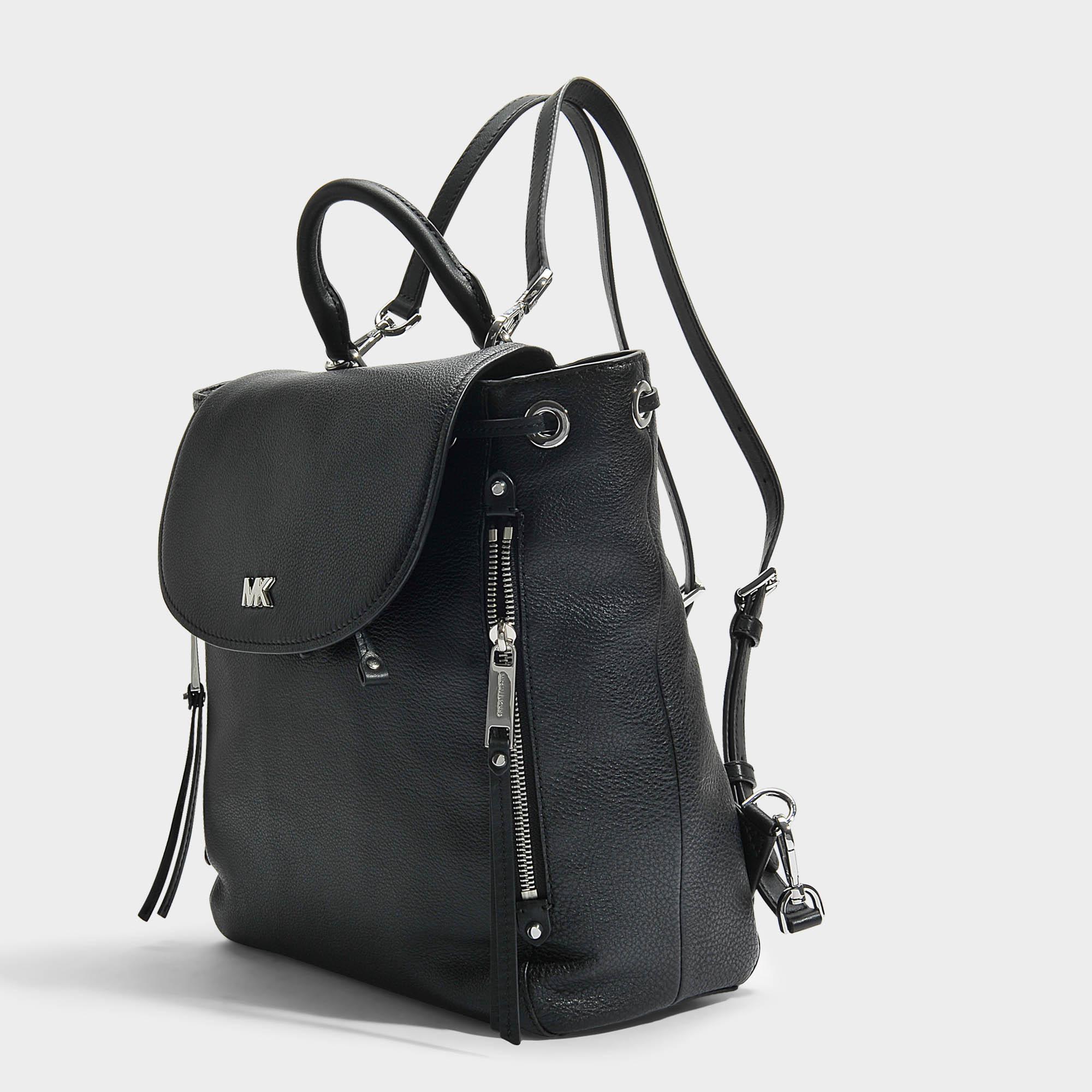 Evie Medium Backpack in Black Small Pebble Leather Michael Michael Kors 9AoCfNp