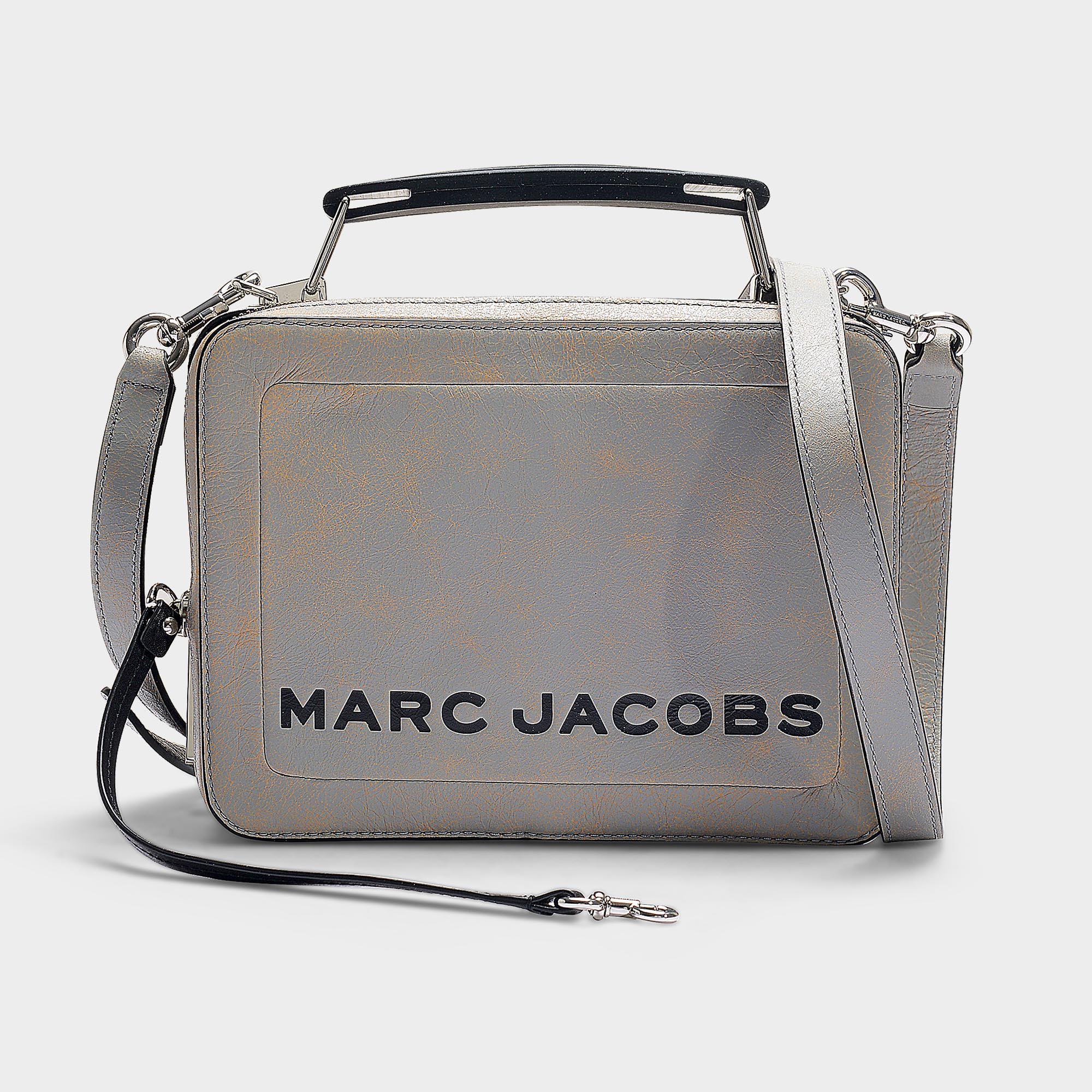 de5c05d41cd6 Marc Jacobs - Multicolor The Box Camera Bag In Grey Calfskin - Lyst. View  fullscreen