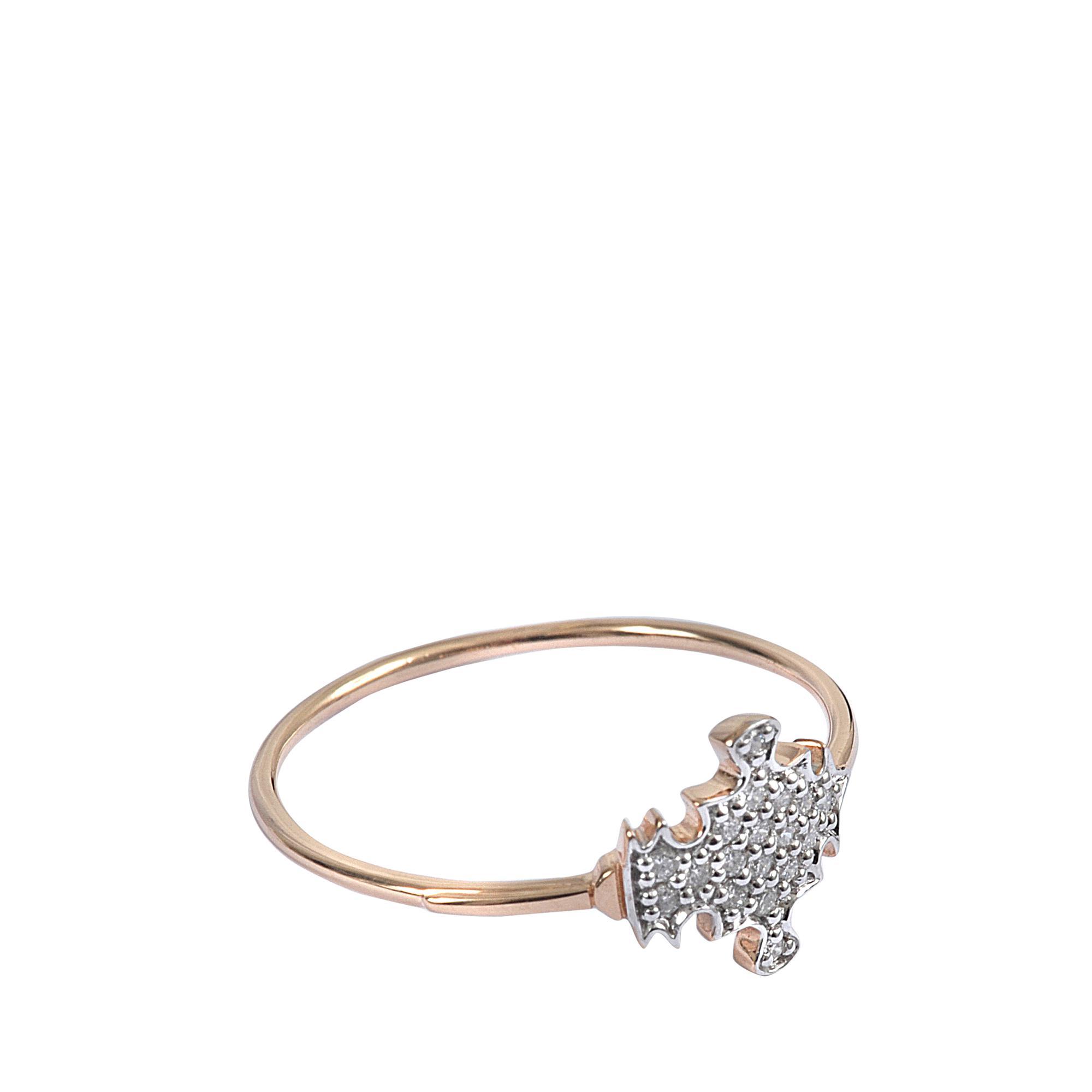 Ginette NY Gold Strip Open 18-karat rose gold ring uKKUGP