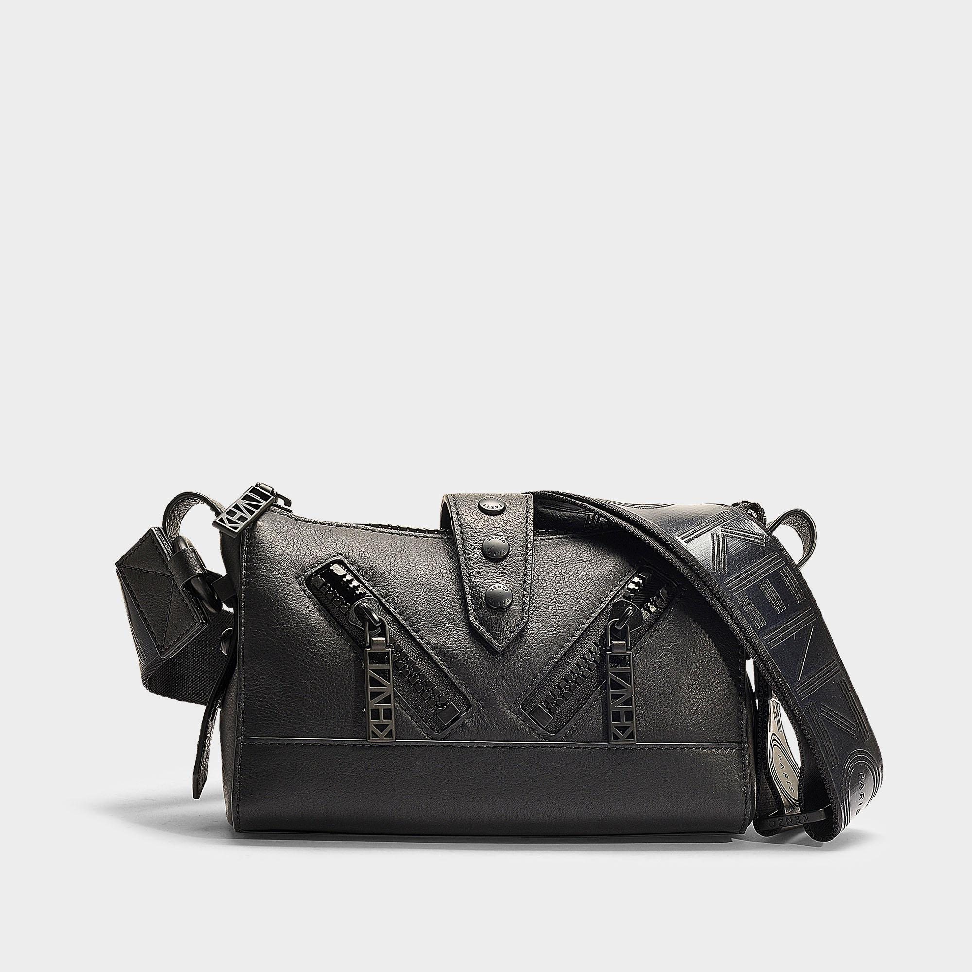 Kenzo Kalifornia Mini Shoulder Bag In Black Calfskin in Black - Lyst a37d8e255cf