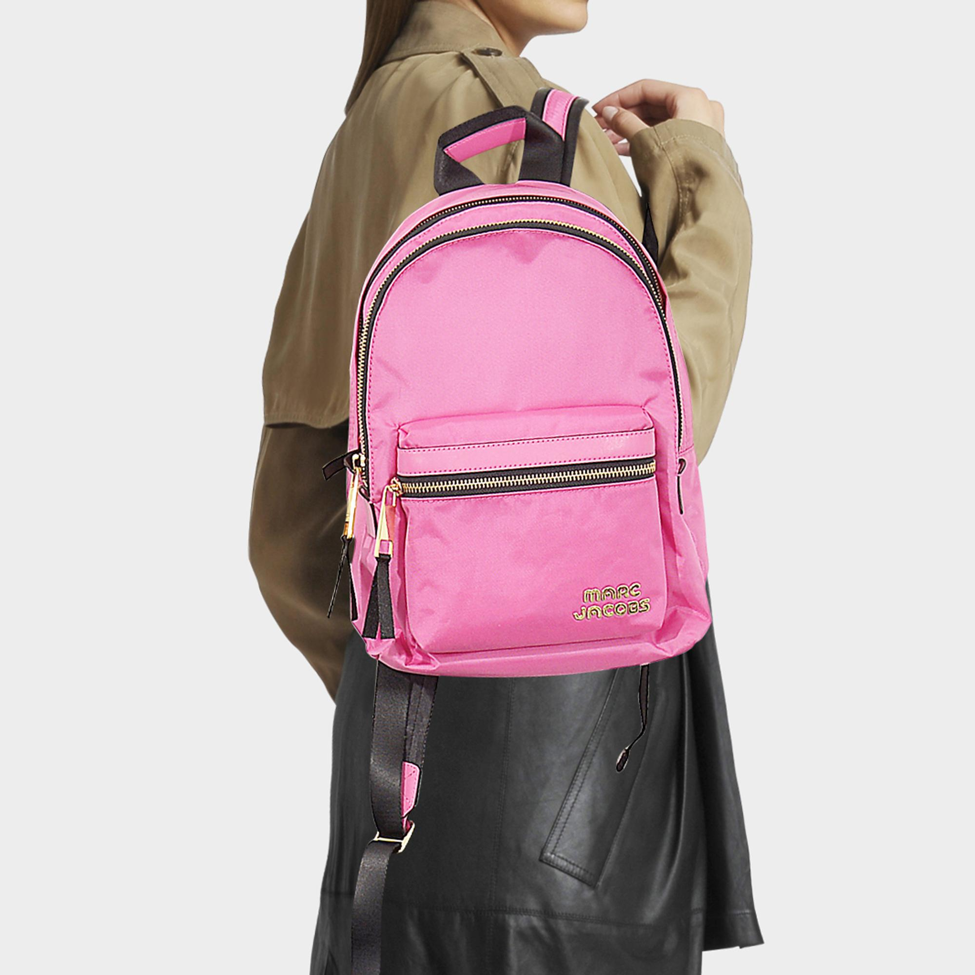 Marc Jacobs Trek Pack Medium Backpack in Pink - Lyst afc756db46e9d