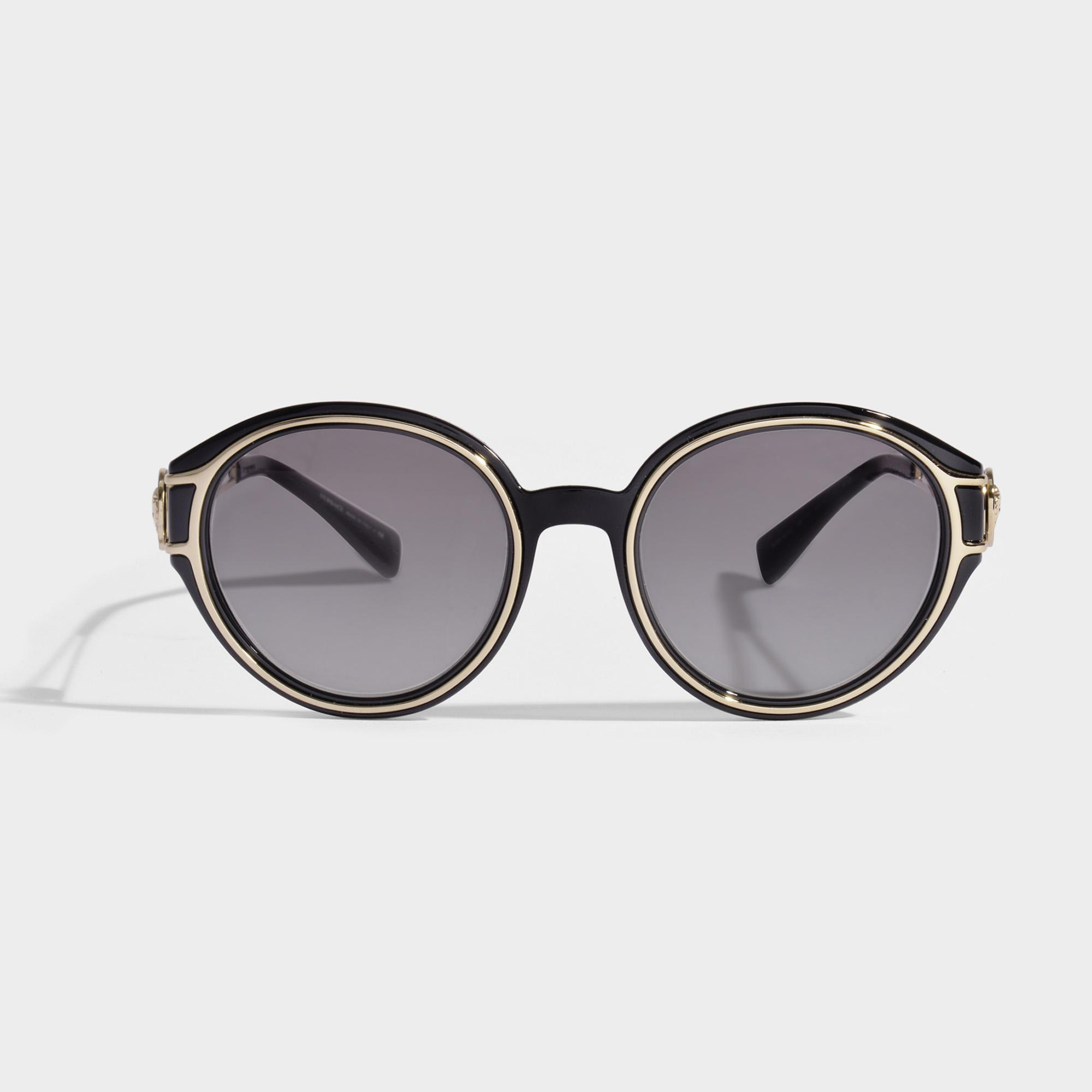 f02a837d1dcb Versace V-strong Sunglasses In Black Acetate in Brown - Lyst