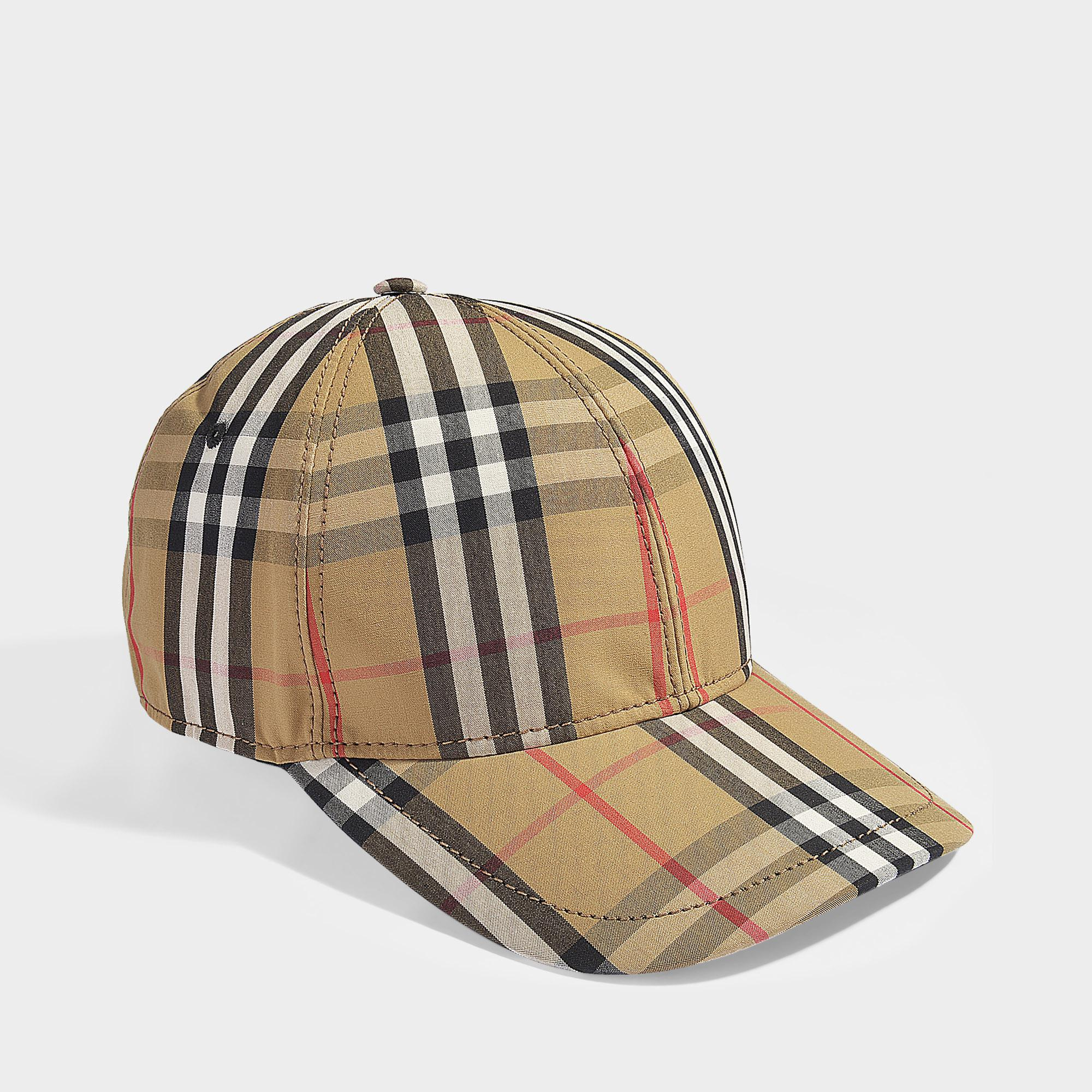 4b34eba12d3 Burberry Vintage Check Baseball Cap In Antique Yellow Cotton in ...