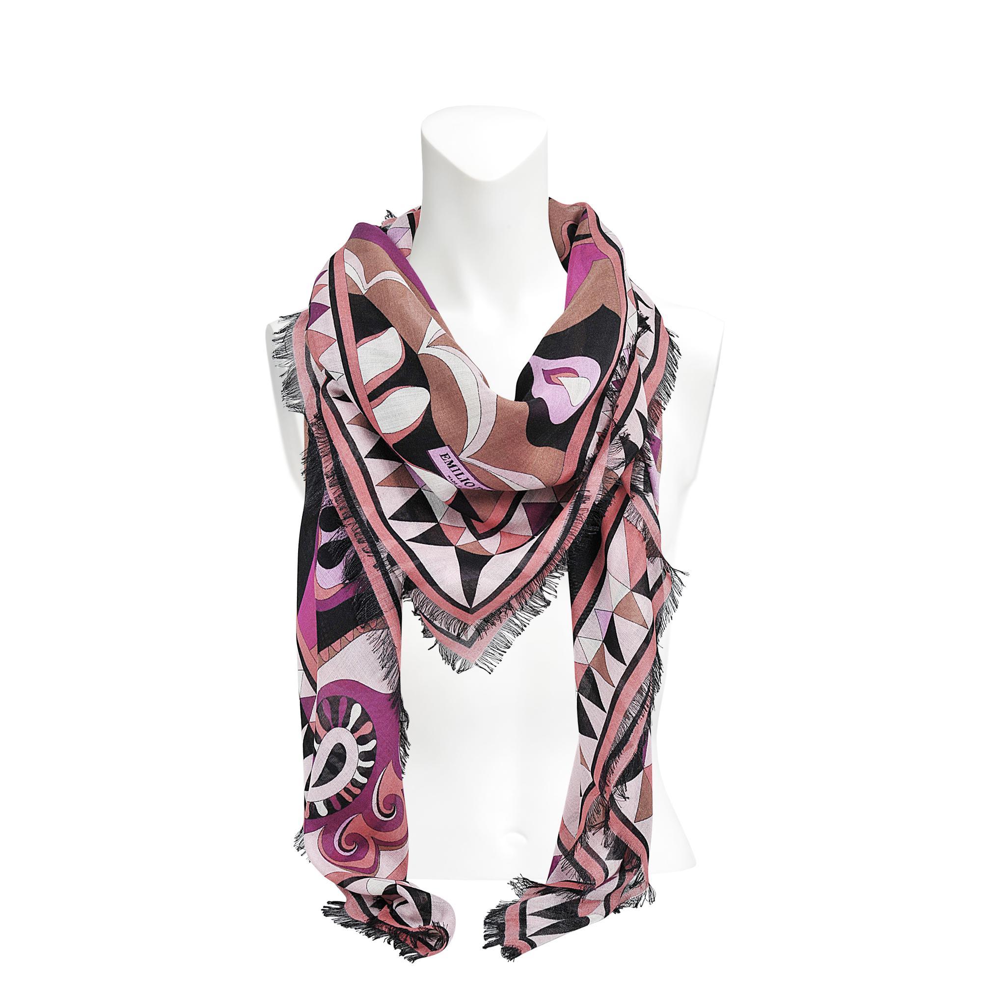 135x135 cm cashmere and silk macro stole Paisley print Emilio Pucci Ps5j3glPS