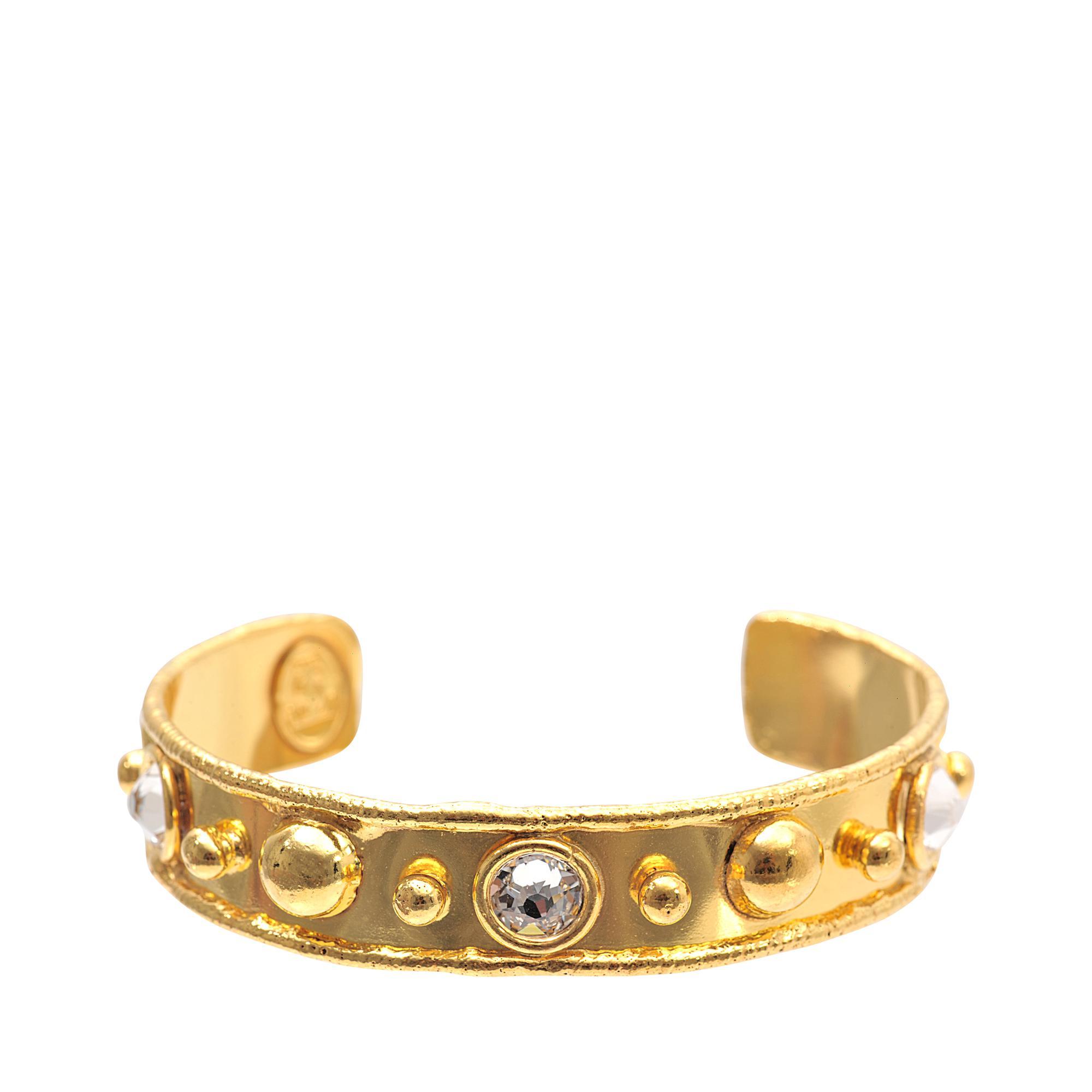Sylvia Toledano Stone Massaii Cuff Bracelet in Gold-Plated Brass I88Nr5EQyP