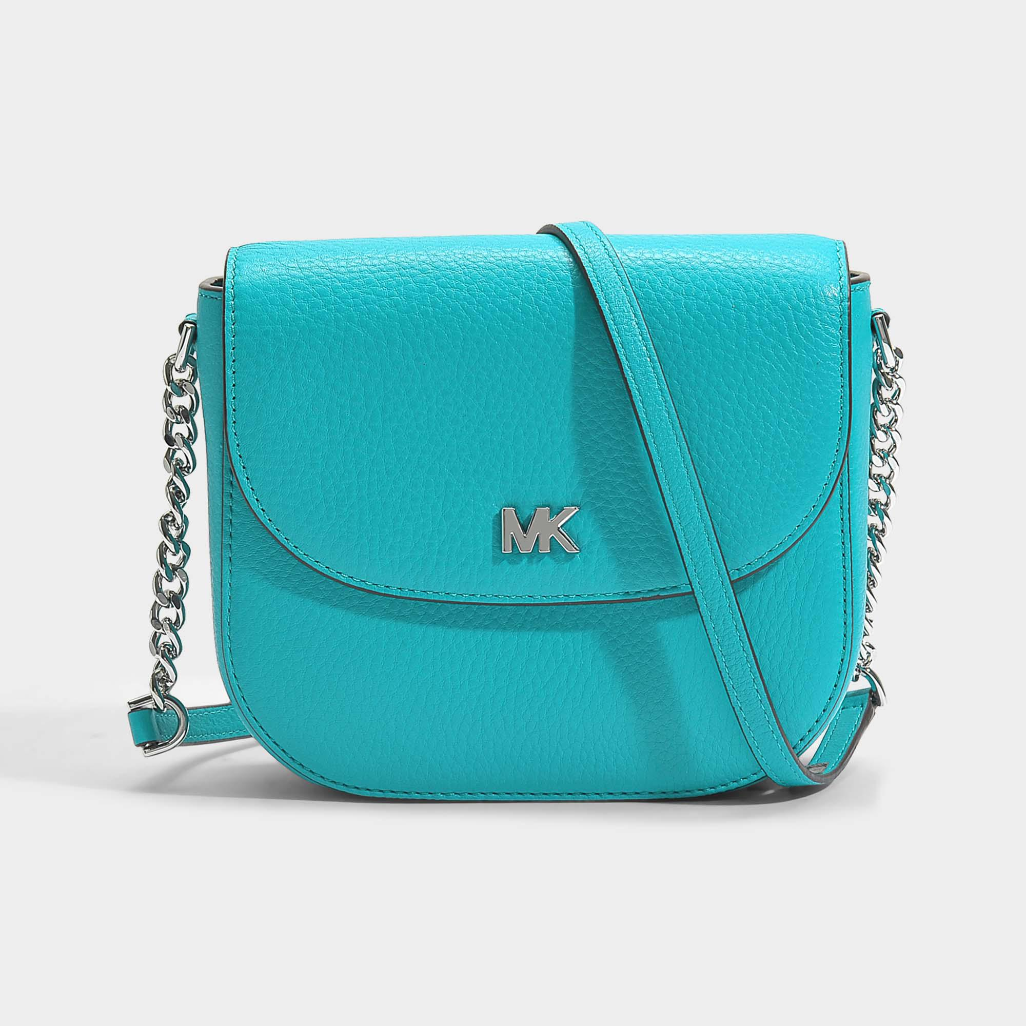 134bb0a85605 Lyst - MICHAEL Michael Kors Half Dome Crossbody Bag In Tile Blue ...