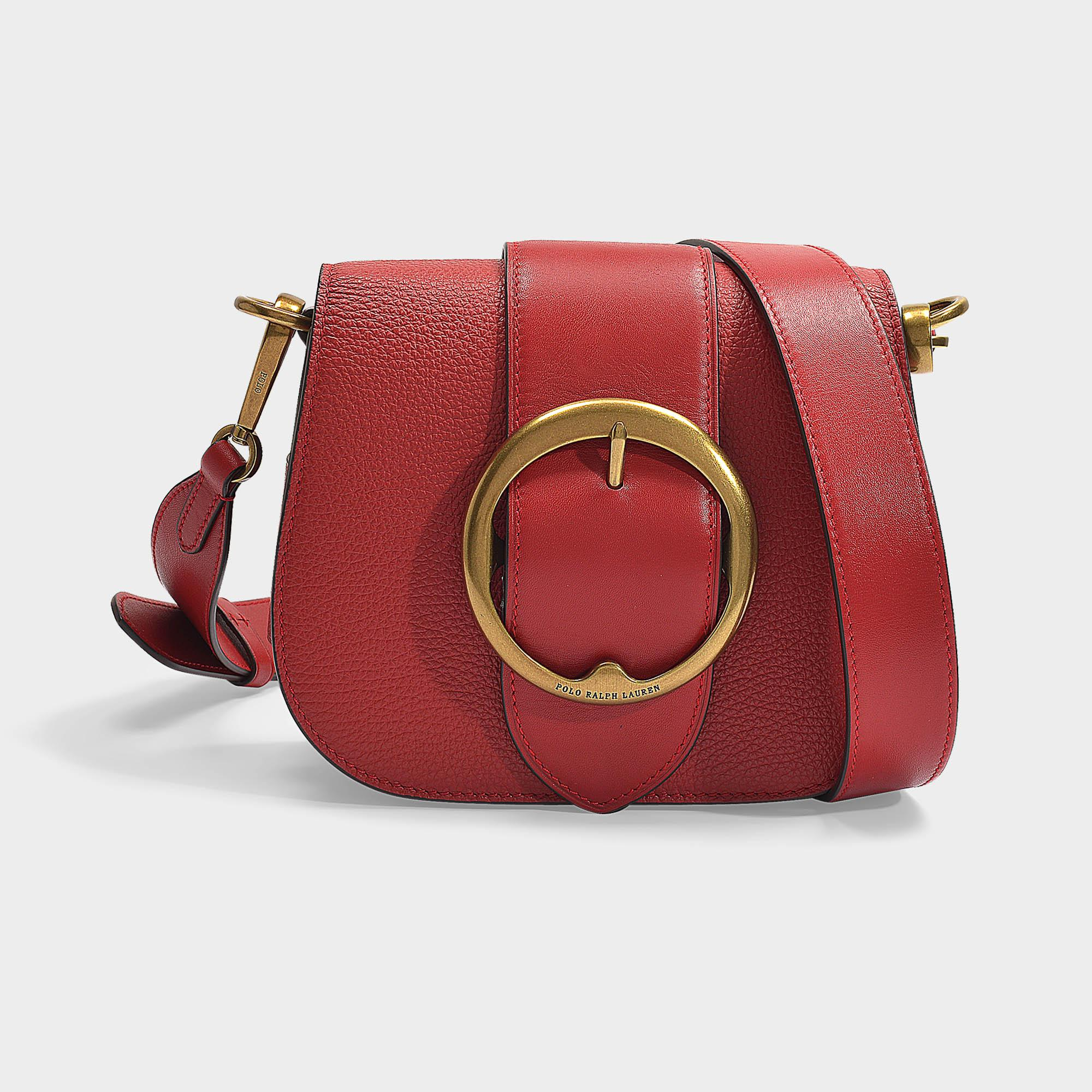 a5751ea316c6 Polo Ralph Lauren. Women s Red Lennox Medium Crossbody Bag In Scarlet  Pebble Leather