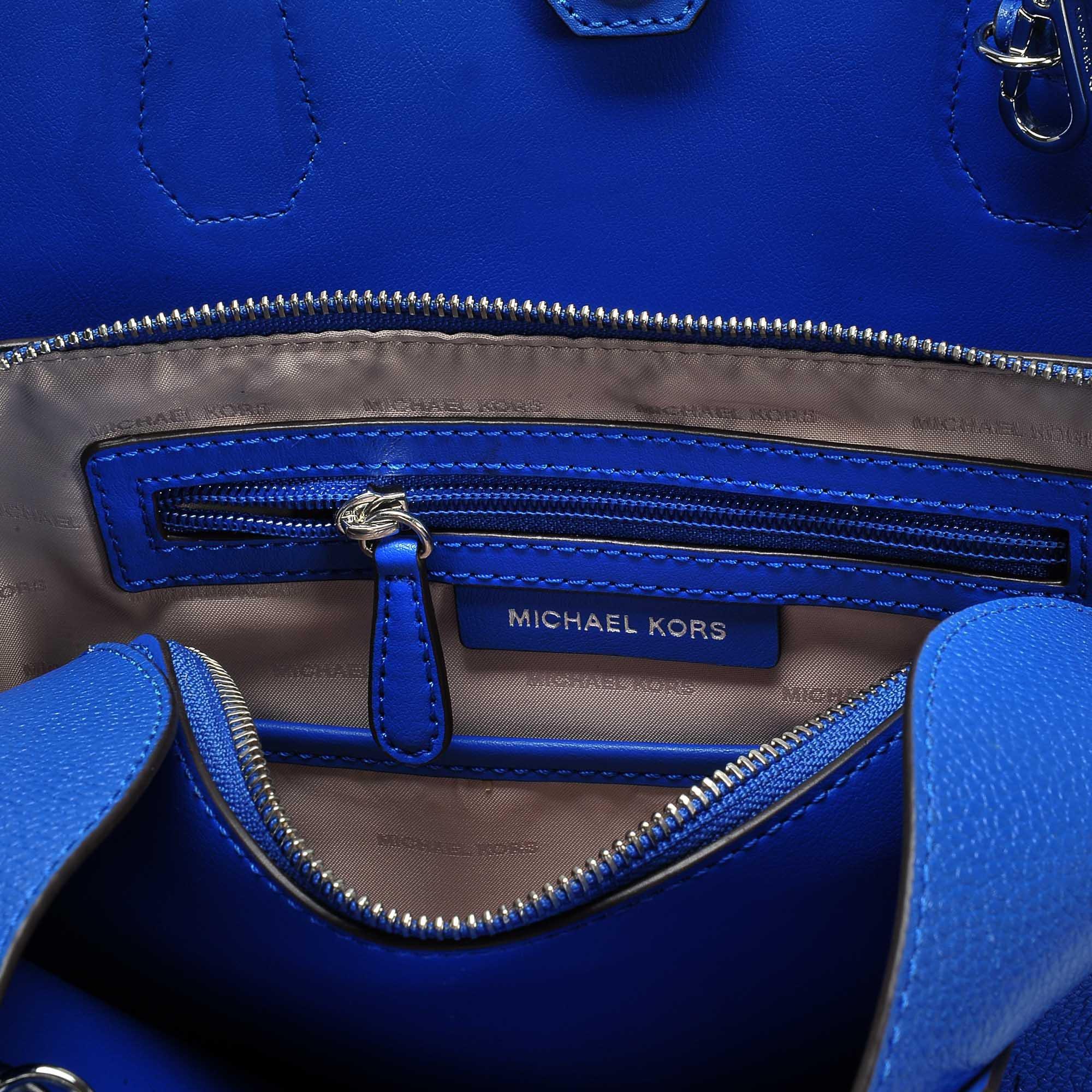 3086ab4d2a00 MICHAEL Michael Kors Annie Medium Center Zip Tote in Blue - Lyst